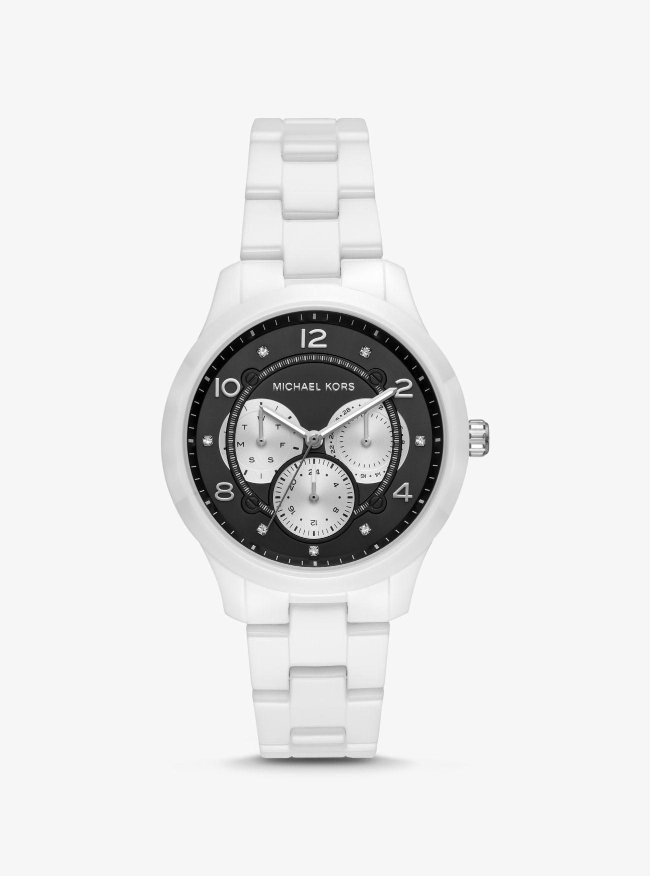 bc7968754690 Michael Kors - White Runway Ceramic Watch - Lyst. View fullscreen