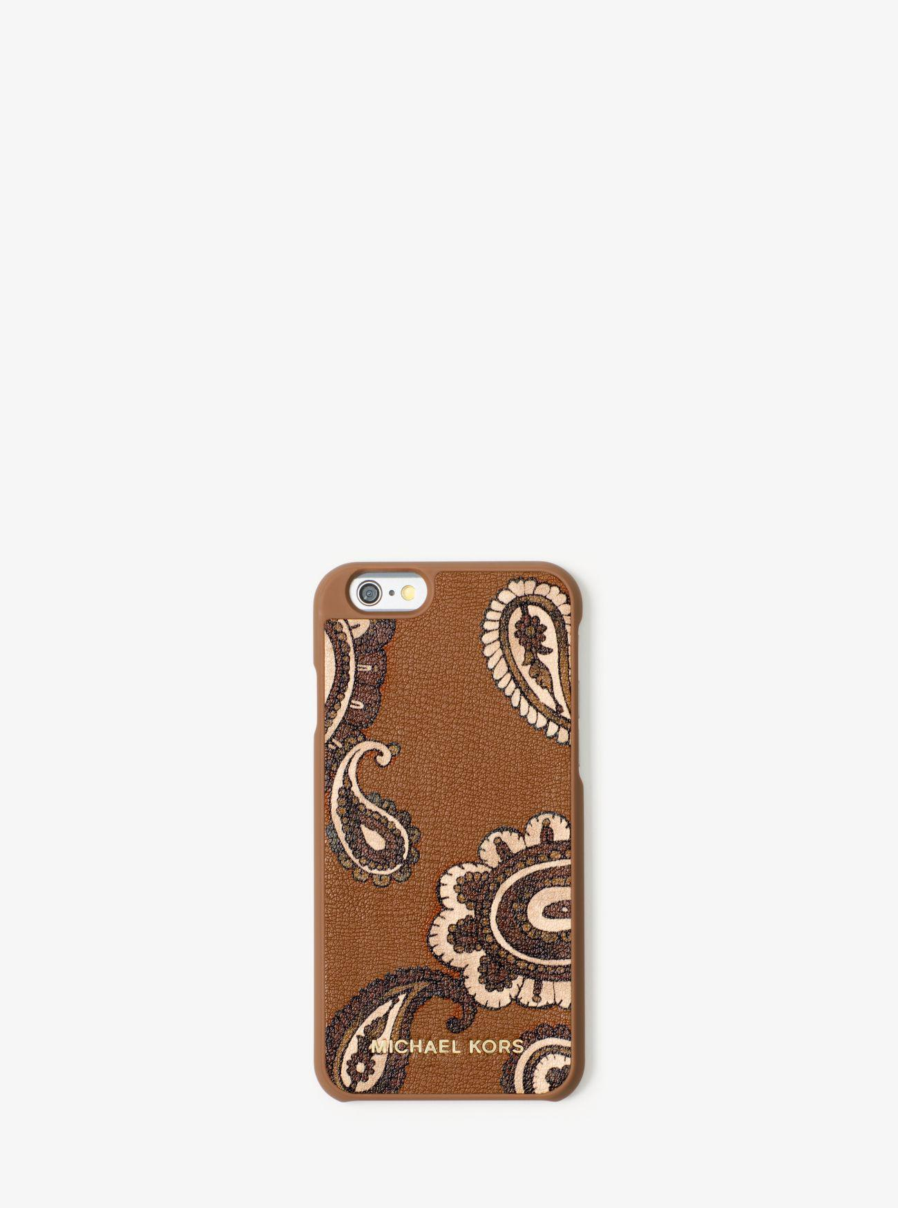 5a8d94ee33b4bb Lyst - Michael Kors Jet Set Travel Leather Phone Case For Iphone 6/6s