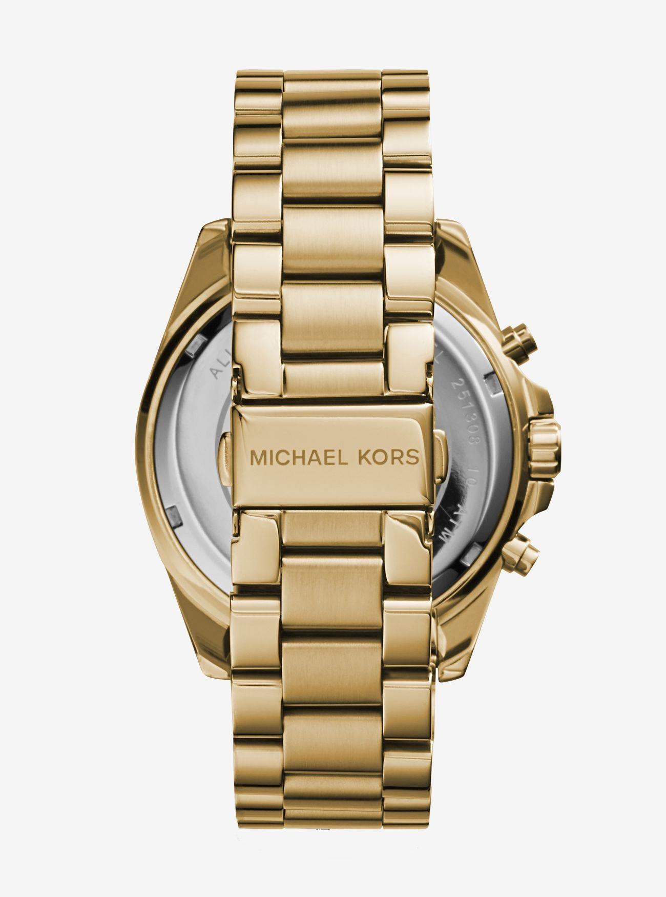 890cd89fe86c Lyst - Michael Kors Oversized Bradshaw Gold-tone Watch in Metallic - Save 9%