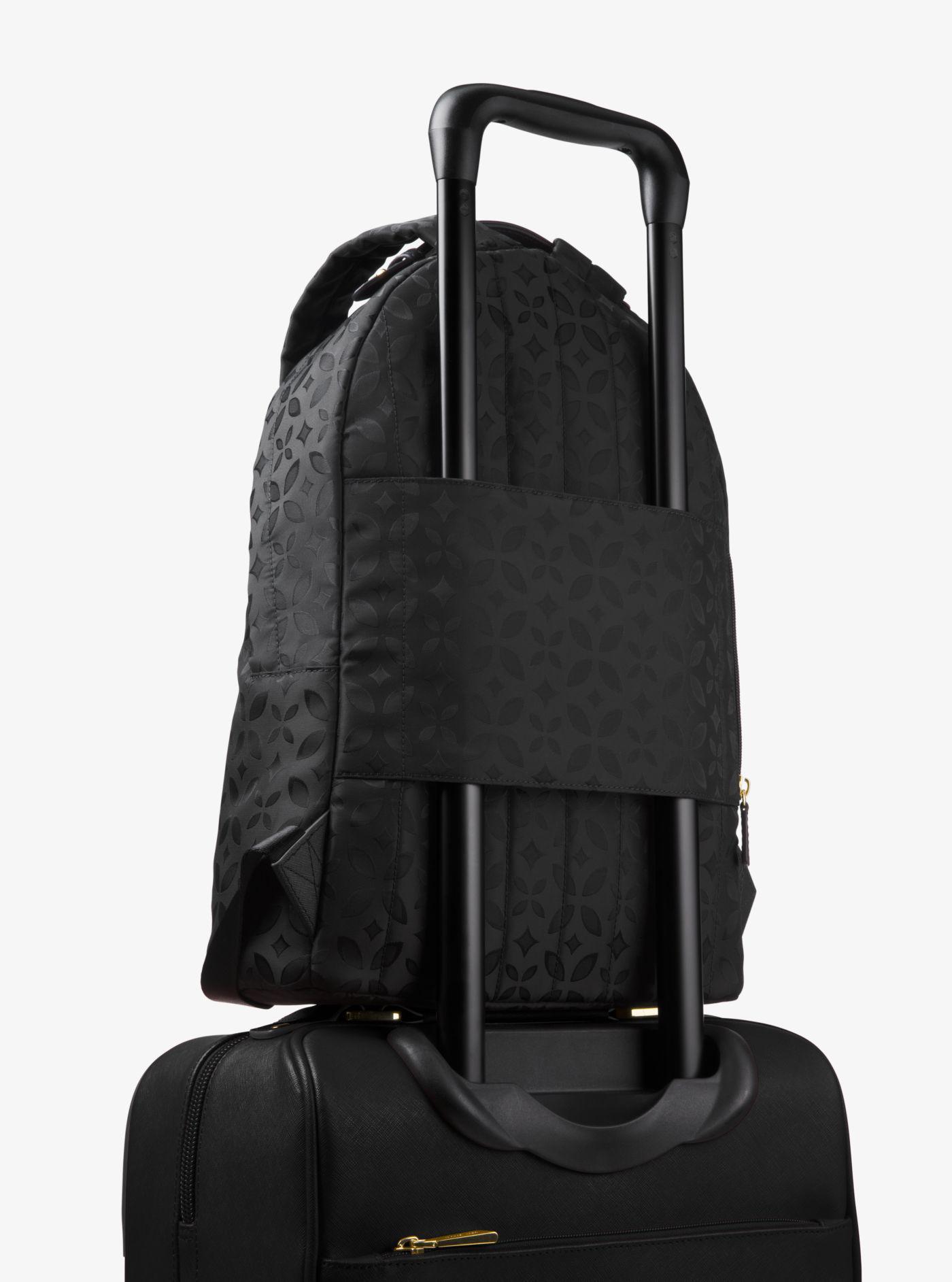 ba19b4b5cc204 Lyst - Michael Kors Michael Nylon Kelsey Signature Backpack in Black