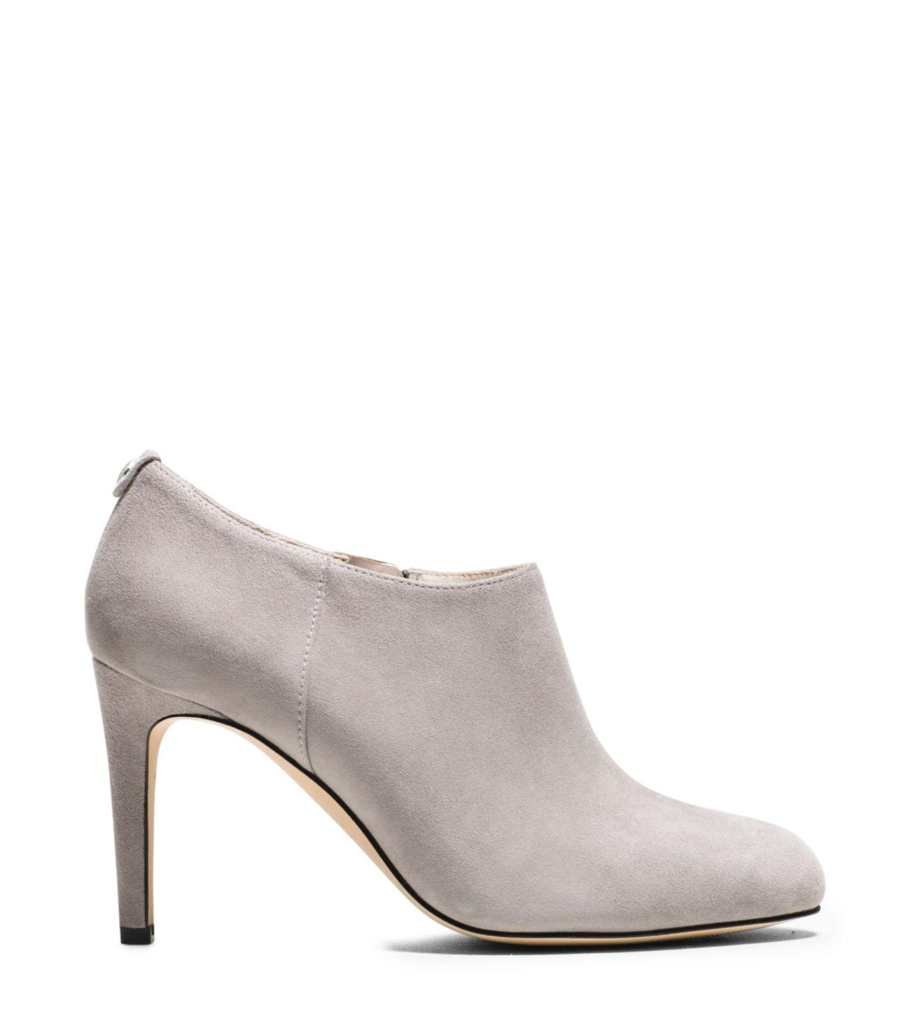 Michael Kors Sammy Suede Ankle Boot in Pearl Grey (White)
