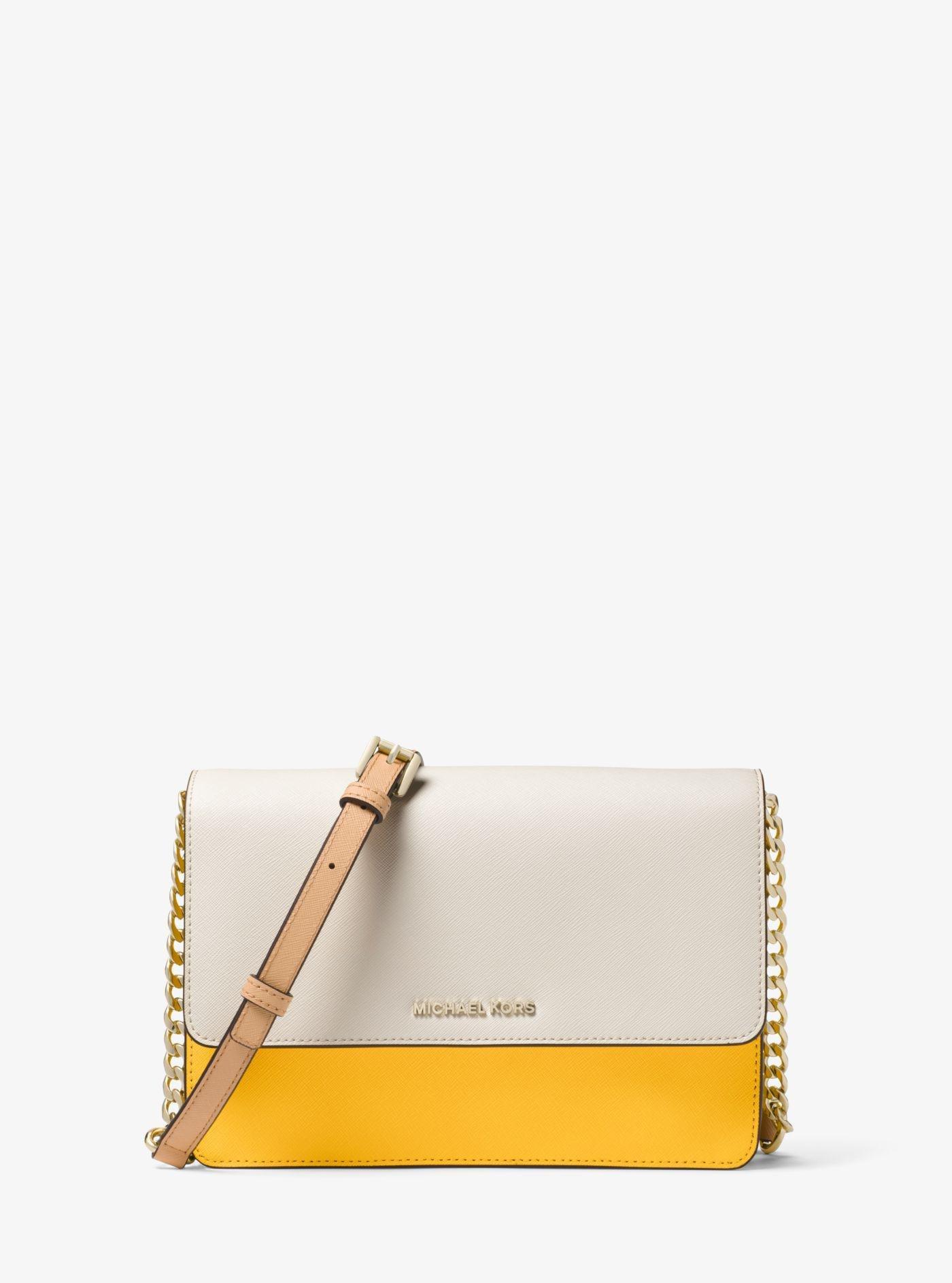 276ed1b9a1ab Michael Kors Daniela Large Color-block Saffiano Leather Crossbody - Lyst