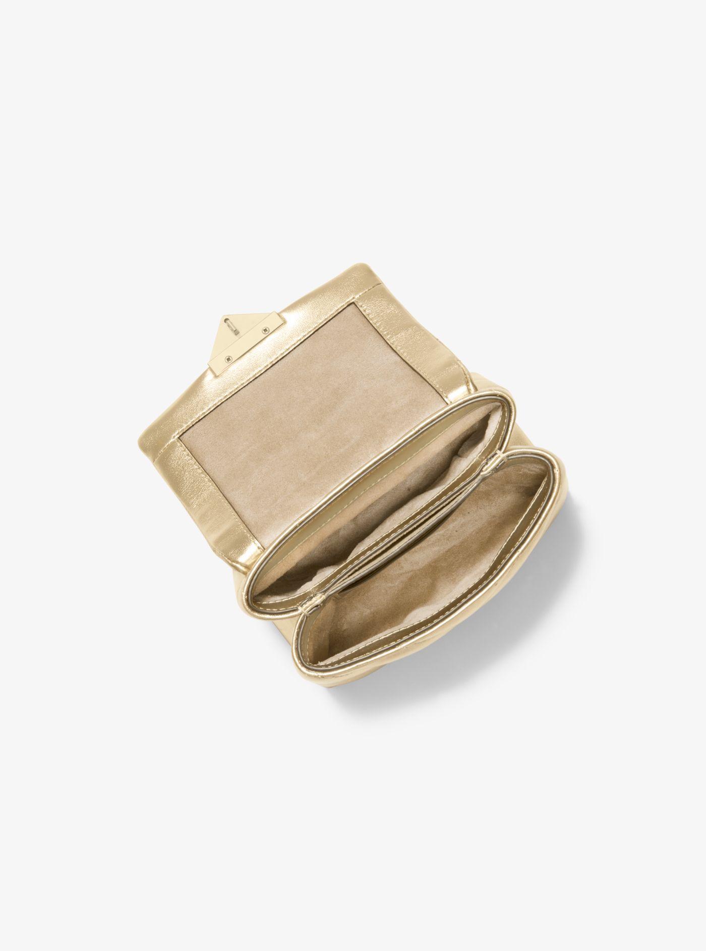 Mini sac à bandoulière Cece en cuir matelassé métallisé Synthétique Michael Kors en coloris Métallisé