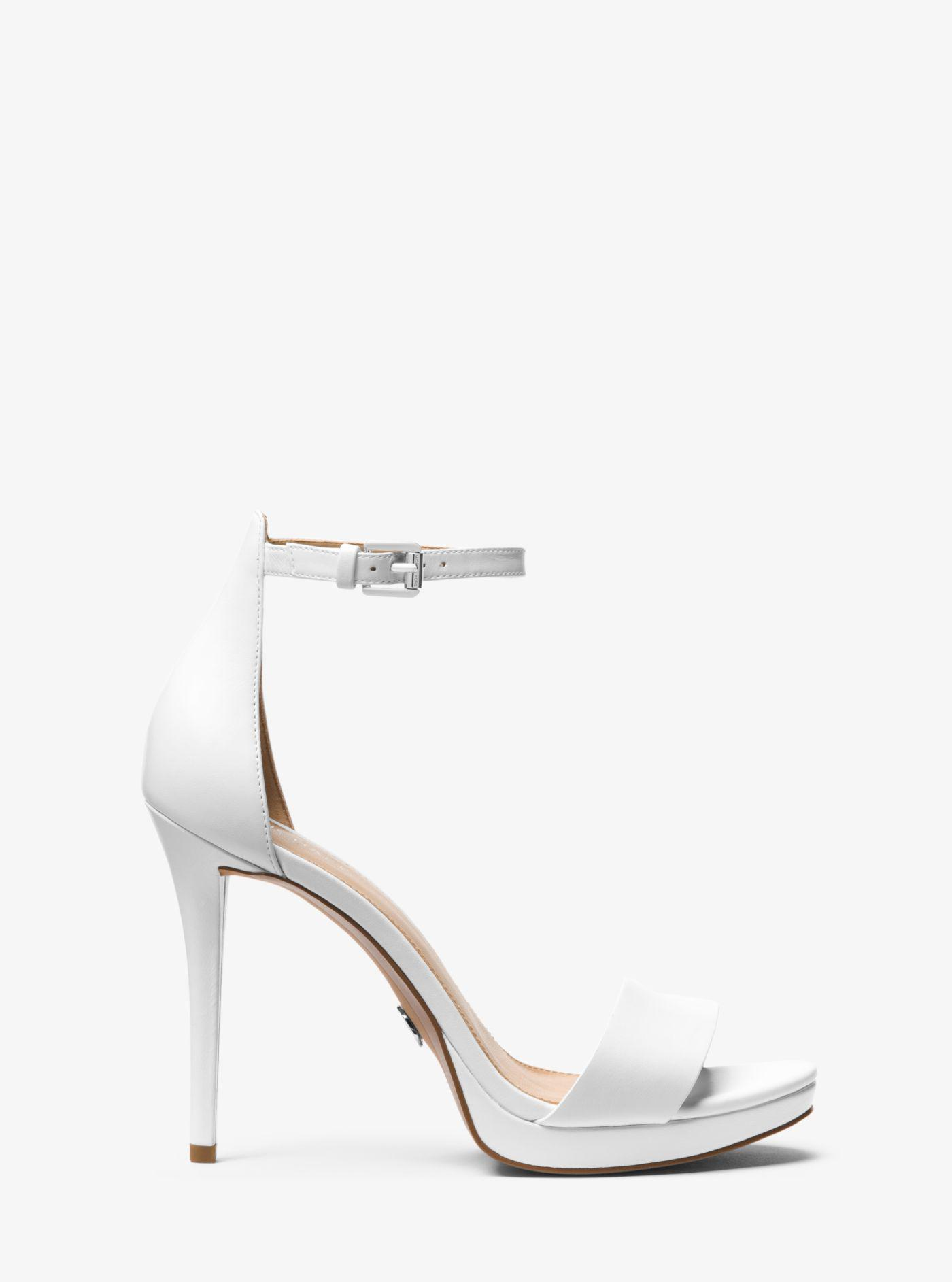 c56207891af951 Michael Kors - White Hutton Leather Sandal - Lyst. View fullscreen