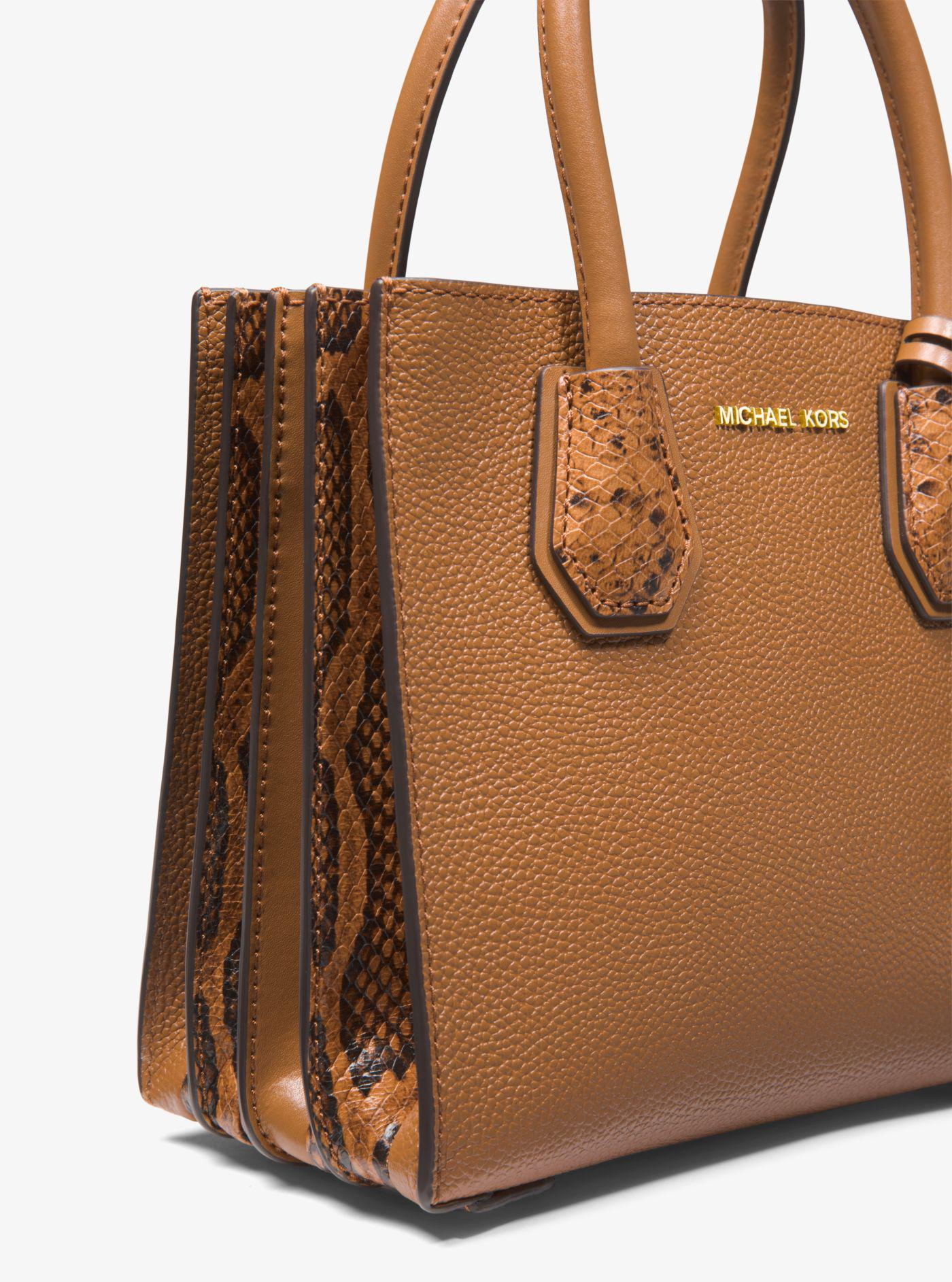 ca5c6966f66589 Michael Kors Mercer Medium Pebbled Leather Accordion Crossbody Bag ...