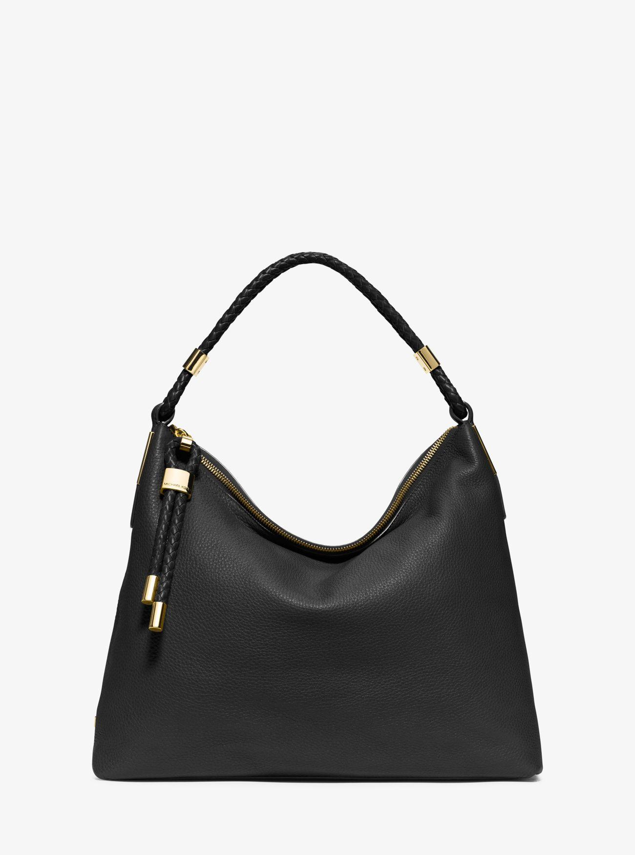 adc054070f4 Michael Kors Skorpios Top-zip Leather Shoulder Bag in Black - Lyst