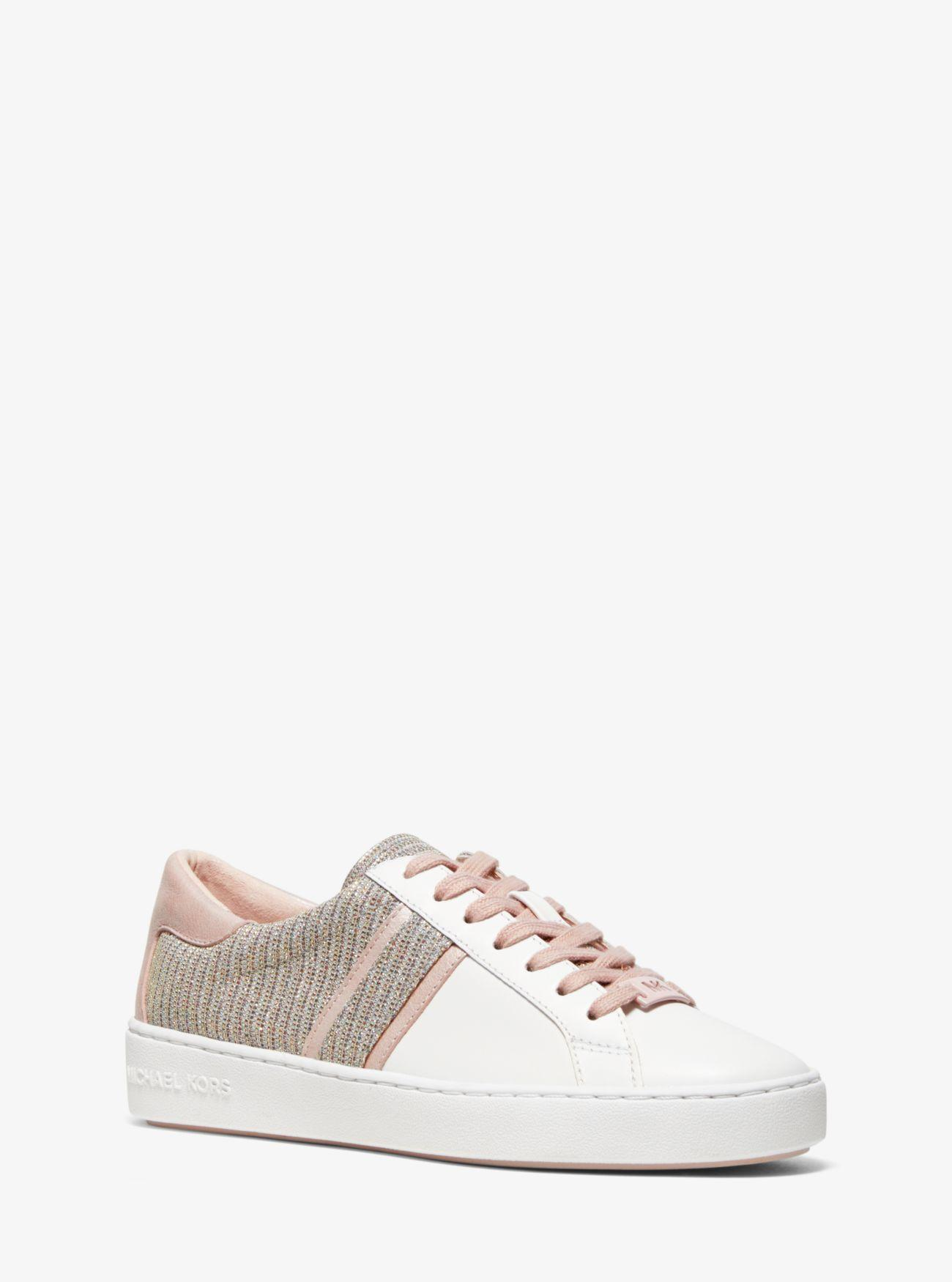 Keaton Chain mesh And Leather Sneaker