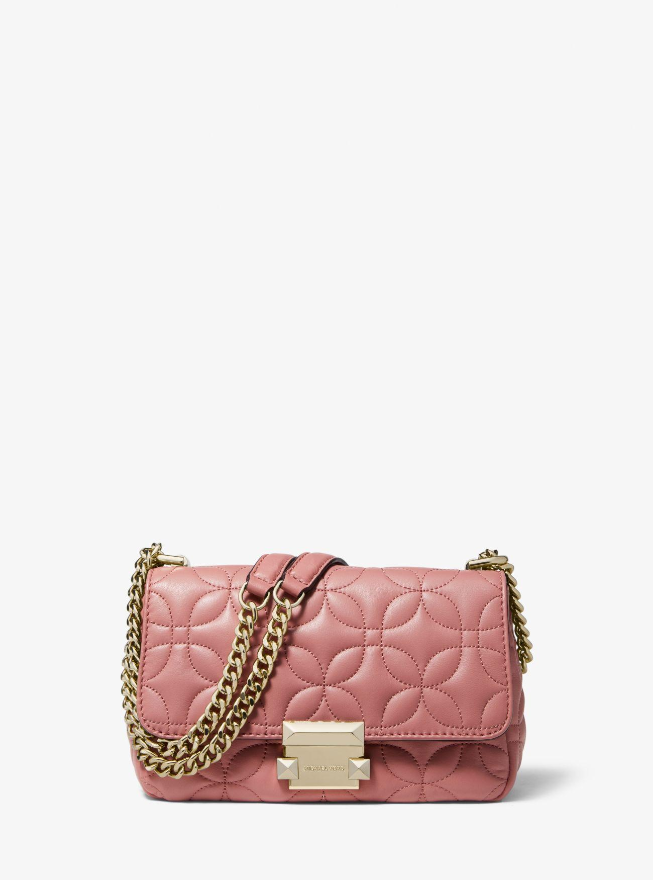 b0b5ece7c94 MICHAEL Michael Kors. Women s Pink Sloan Small Floral Quilted Leather Shoulder  Bag