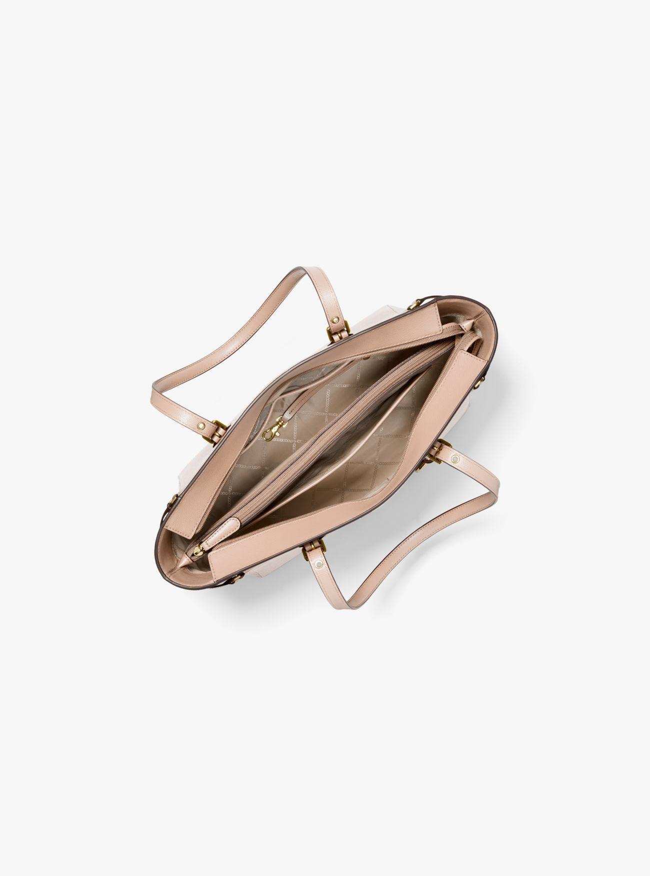 1a89816fdae7 Michael Kors - Pink Voyager Medium Leather Tote - Lyst. View fullscreen