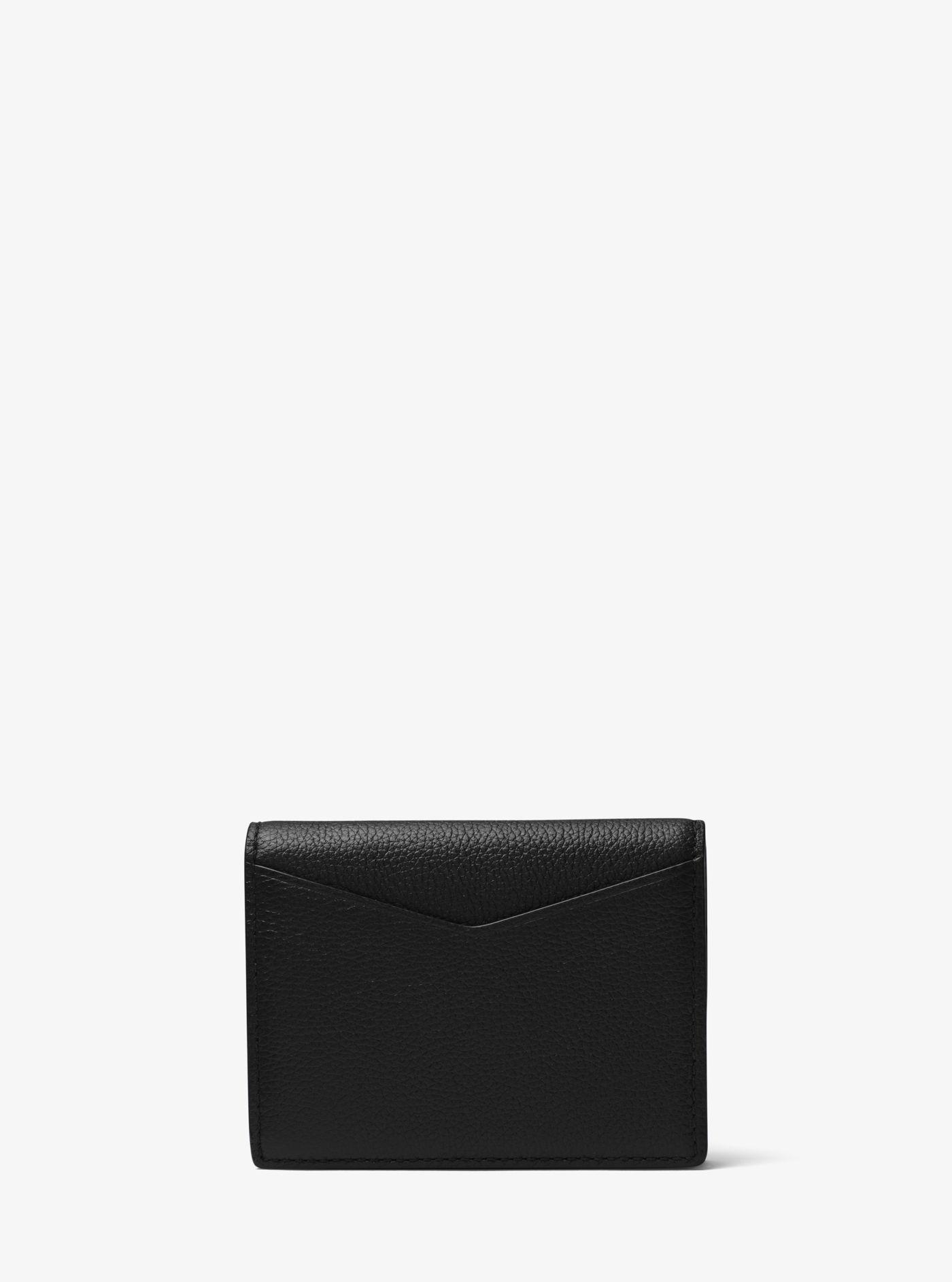 d65f30cf15a2 Lyst - Michael Kors Bryant Leather L-fold Wallet in Black for Men