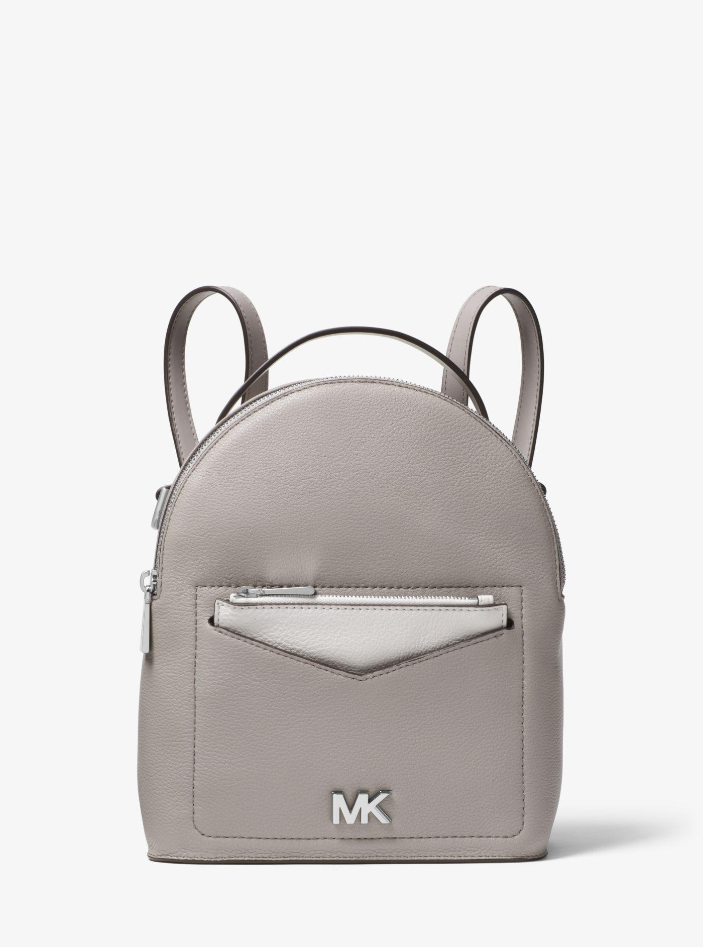 a4a8380b65 Lyst - Michael Kors Jessa Small Pebbled Leather Convertible Backpack ...