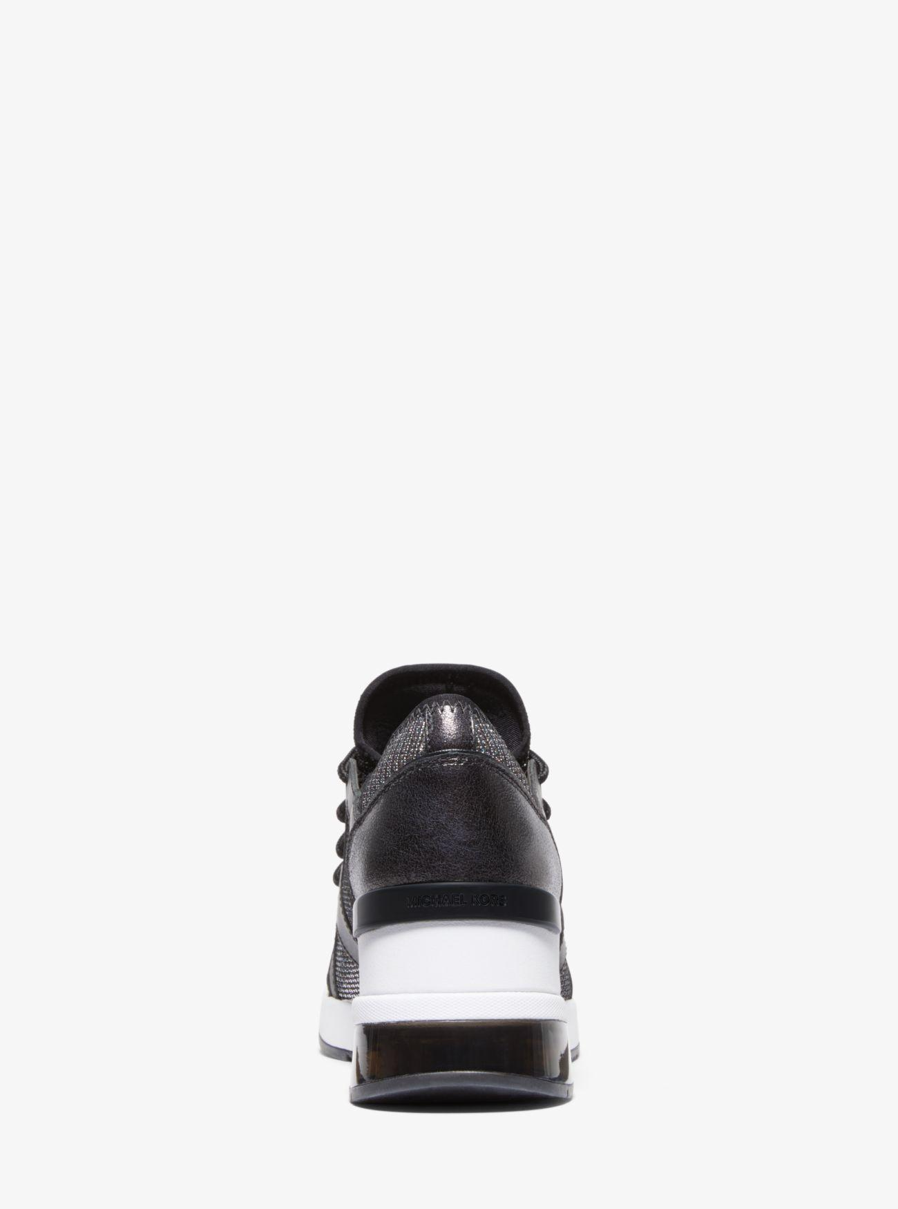 michael kors liv bubble trainer sneakers