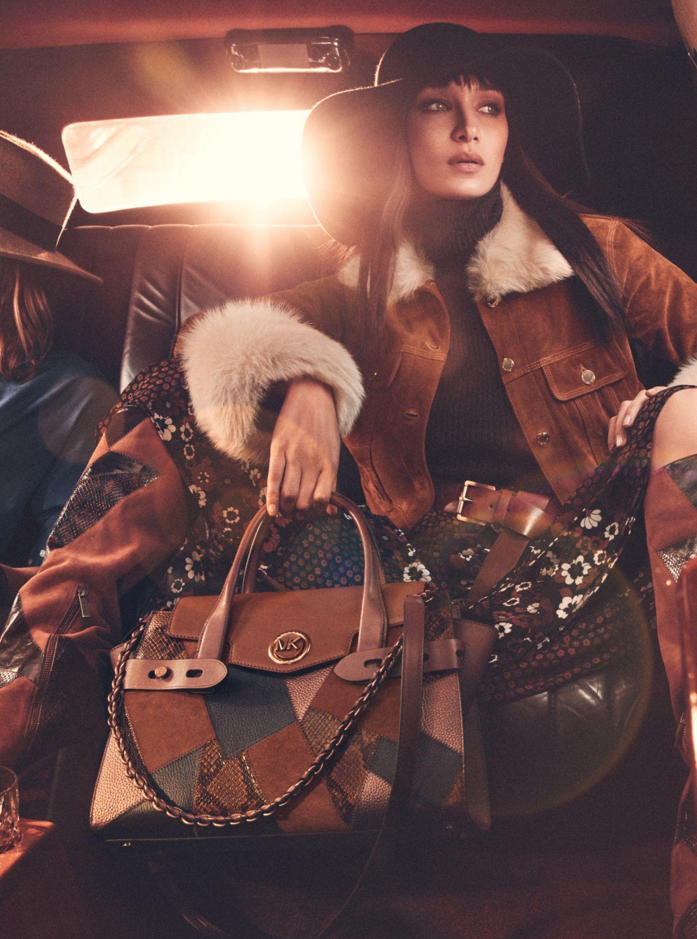 Carmen Large Patchwork Embossed Leather Belted Satchel