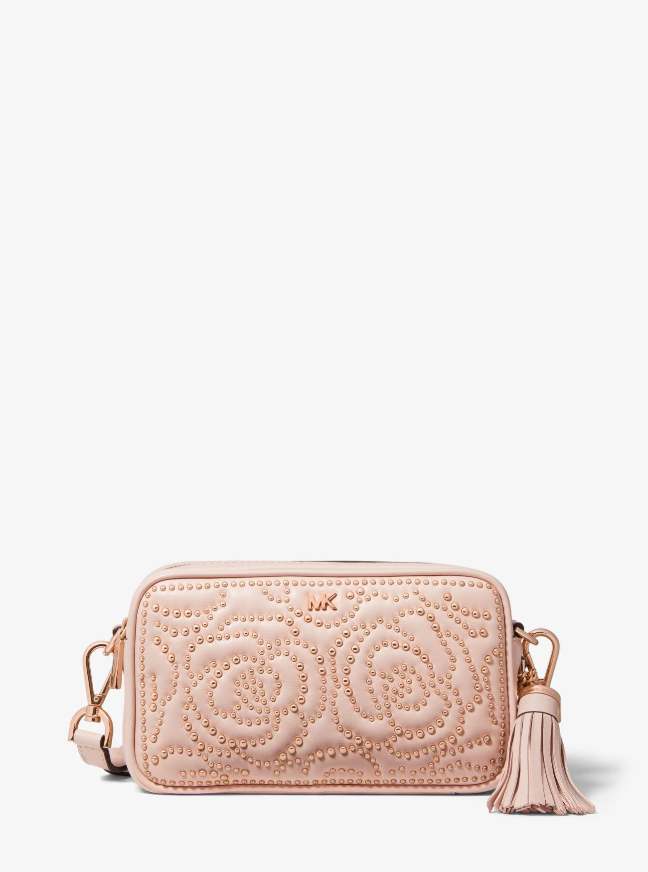 28e683ba1649 Michael Kors Michael Quilted Stud Camera Bag in Pink - Lyst