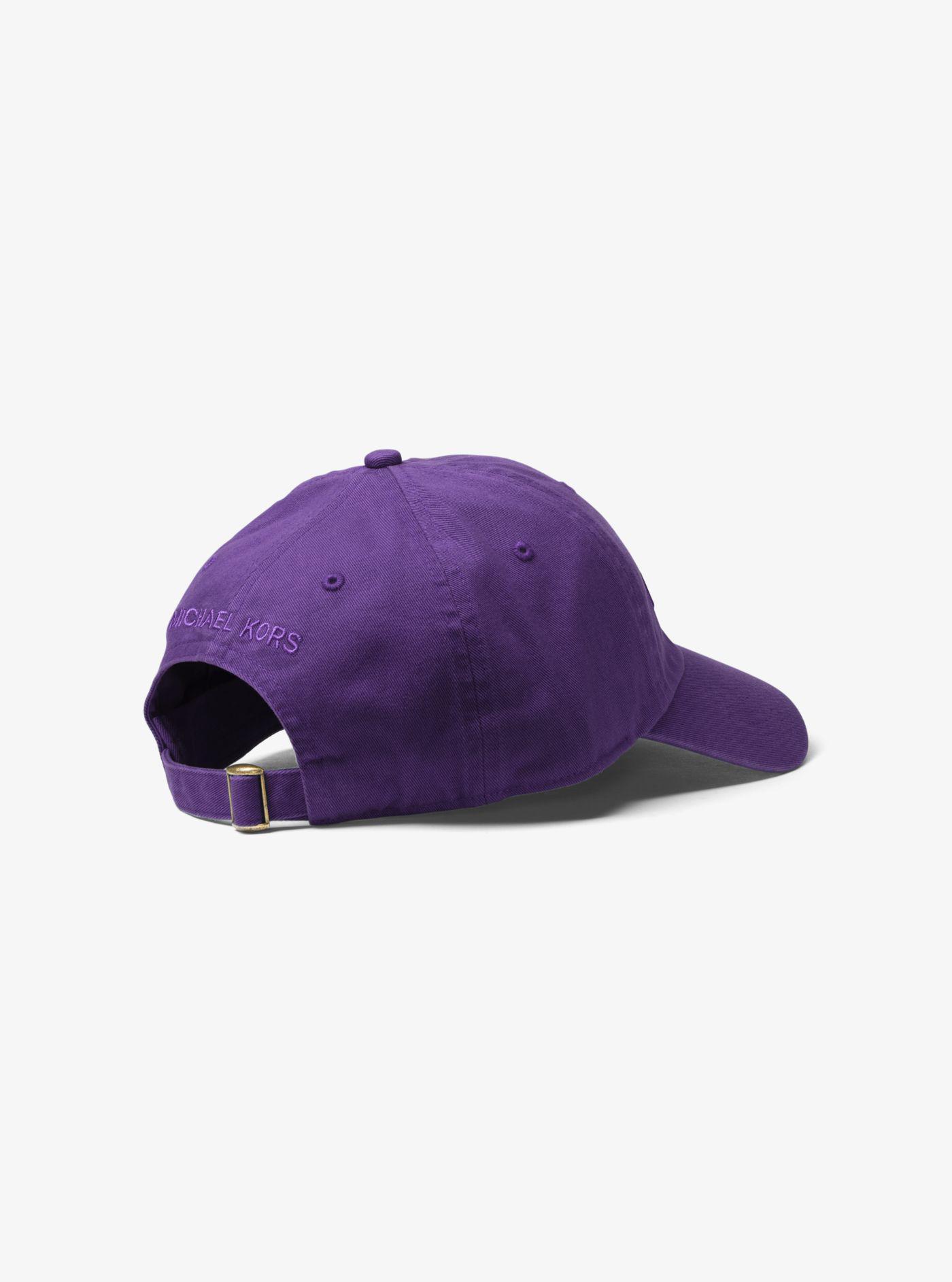 Michael Kors - Purple Logo Cotton Baseball Hat for Men - Lyst. View  fullscreen 1e993f25c71e