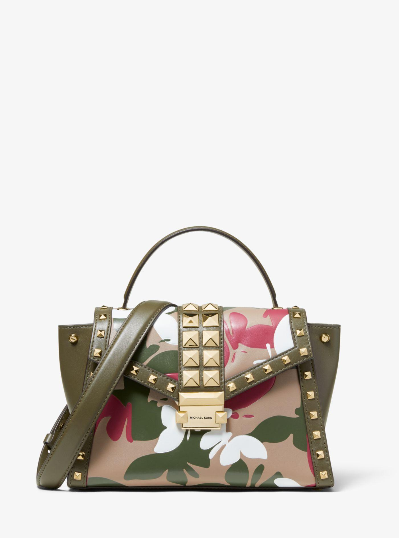 a84ca319a0d4 Michael Kors - Multicolor Whitney Medium Butterfly Camo Leather Satchel -  Lyst. View fullscreen