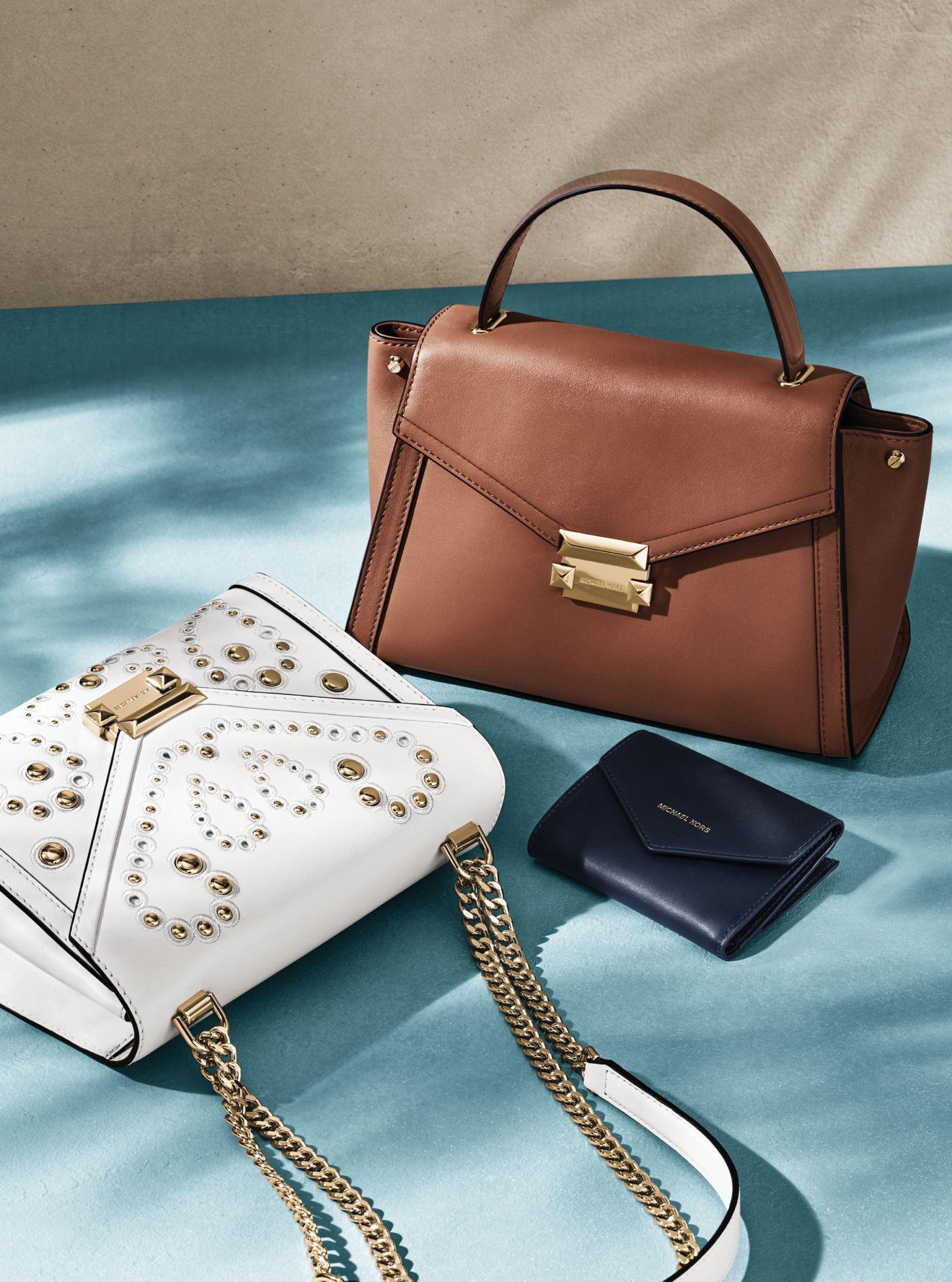 Michael Kors Whitney Large Embellished Leather Convertible