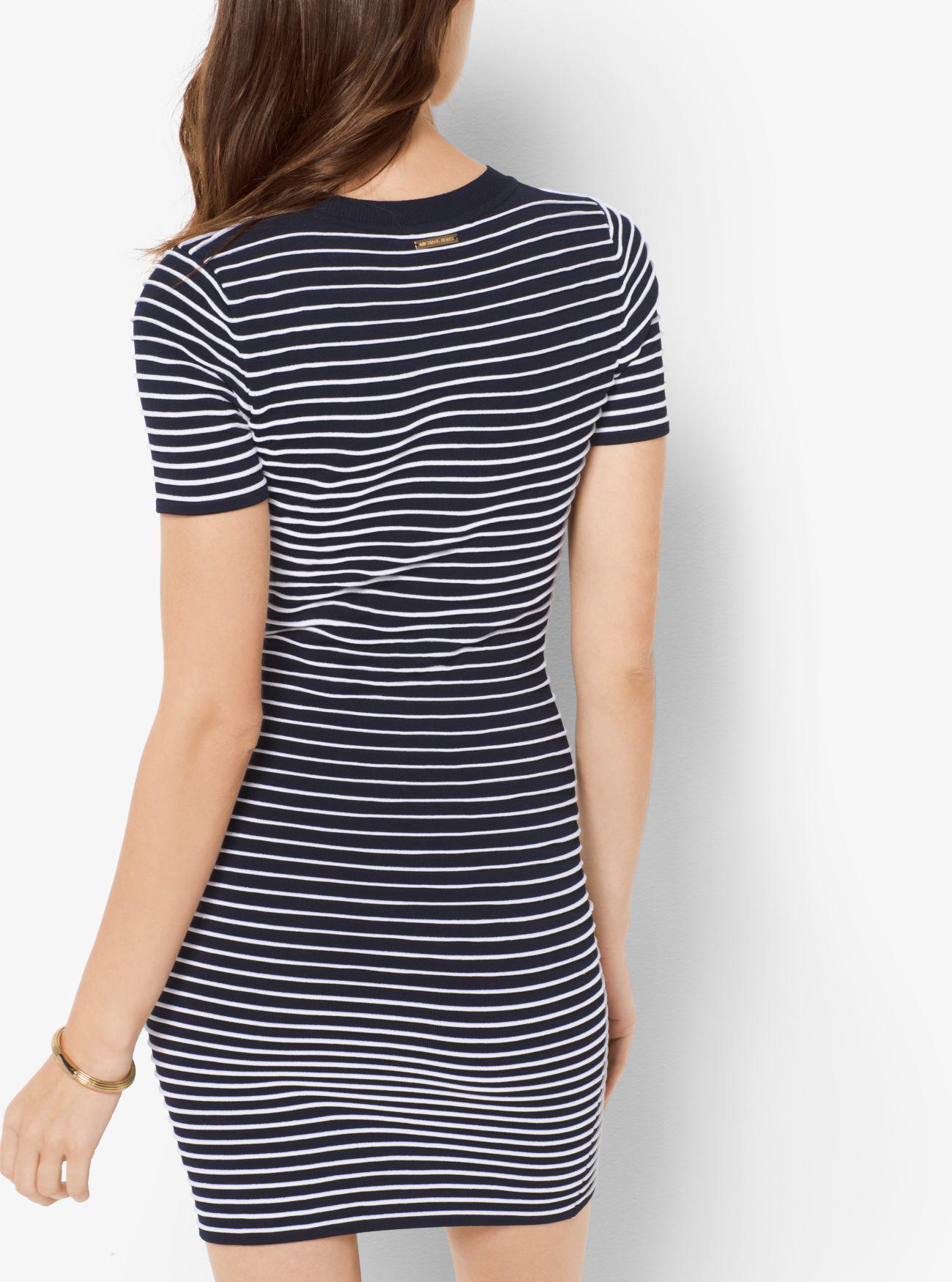 michael kors striped t shirt dress
