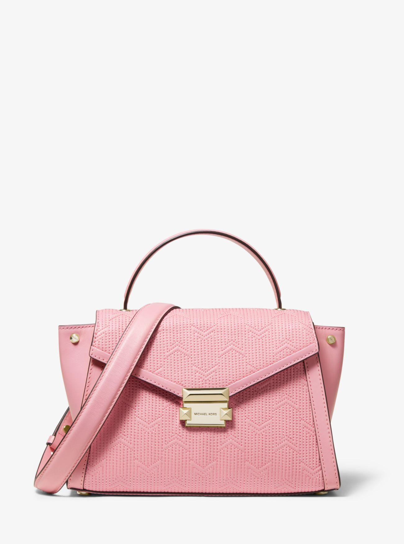 f6fac033e6b190 MICHAEL Michael Kors - Pink Whitney Medium Deco Quilted Leather Satchel -  Lyst. View fullscreen