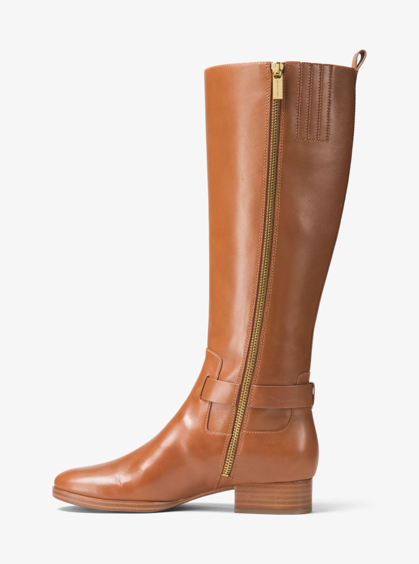 Michael Kors Ryan Leather Boot in Brown