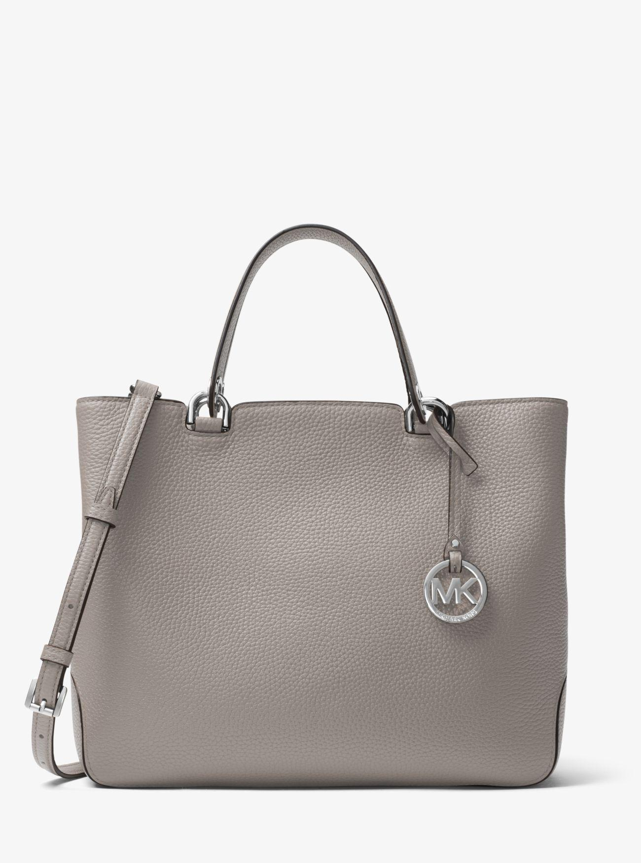 52ac856753033 Lyst - Michael Kors Anabelle Leather Tote in Gray