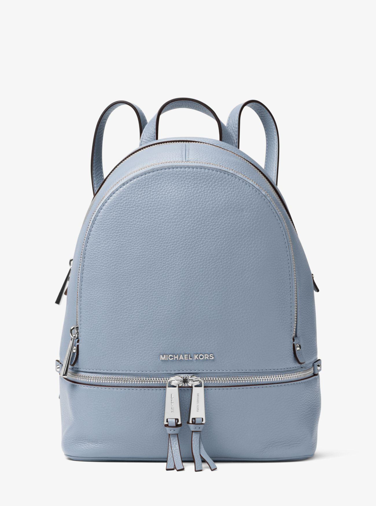 efd5a7c42392 Michael Kors - Blue Rhea Medium Backpack - Lyst. View fullscreen