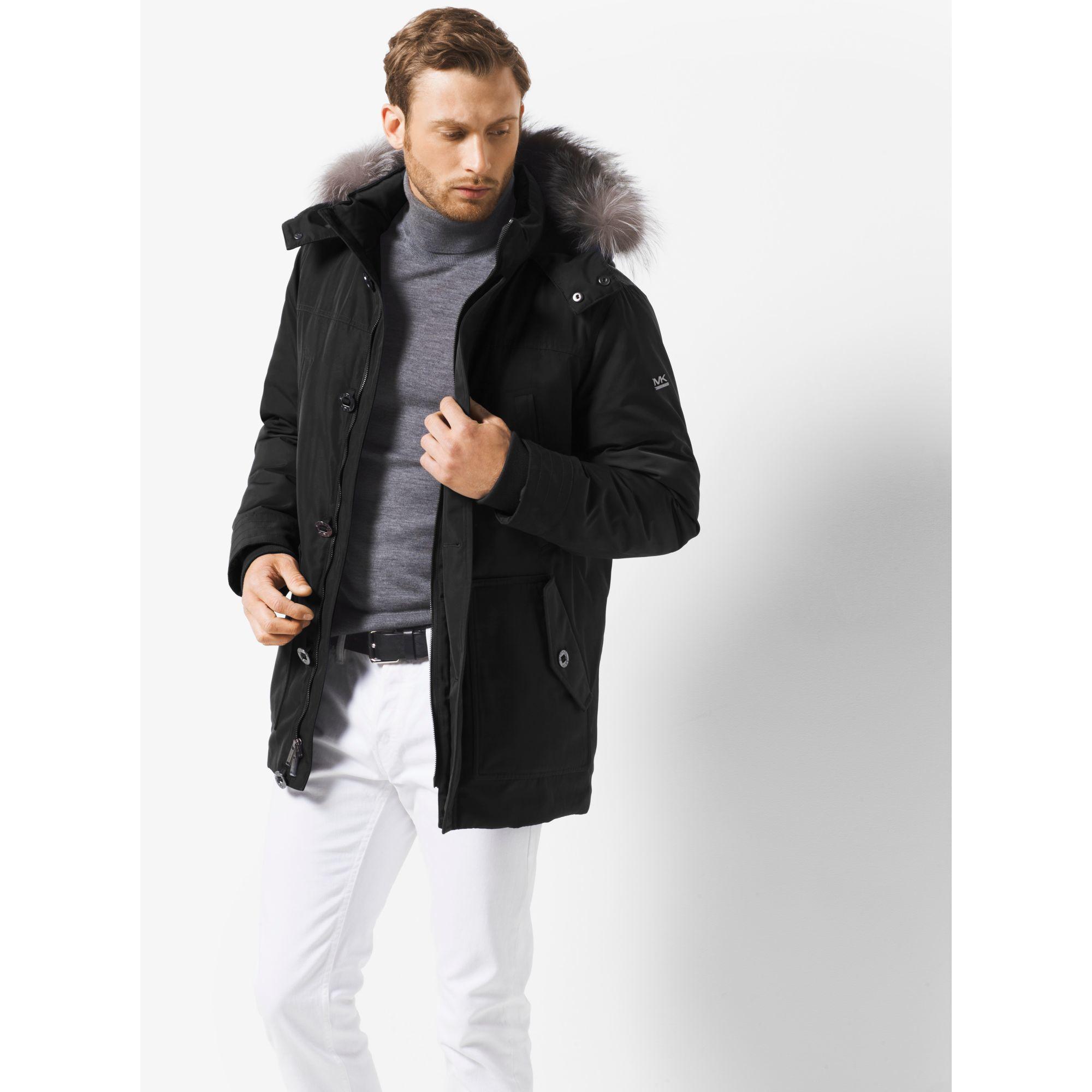 cf48173dd2a79 Lyst - Michael Kors Fur-trimmed Parka in Black for Men