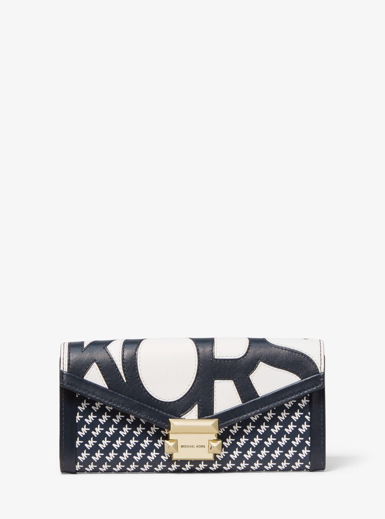 74c9e7f19a8a MICHAEL Michael Kors Whitney Large Graphic Logo Chain Wallet - Save ...
