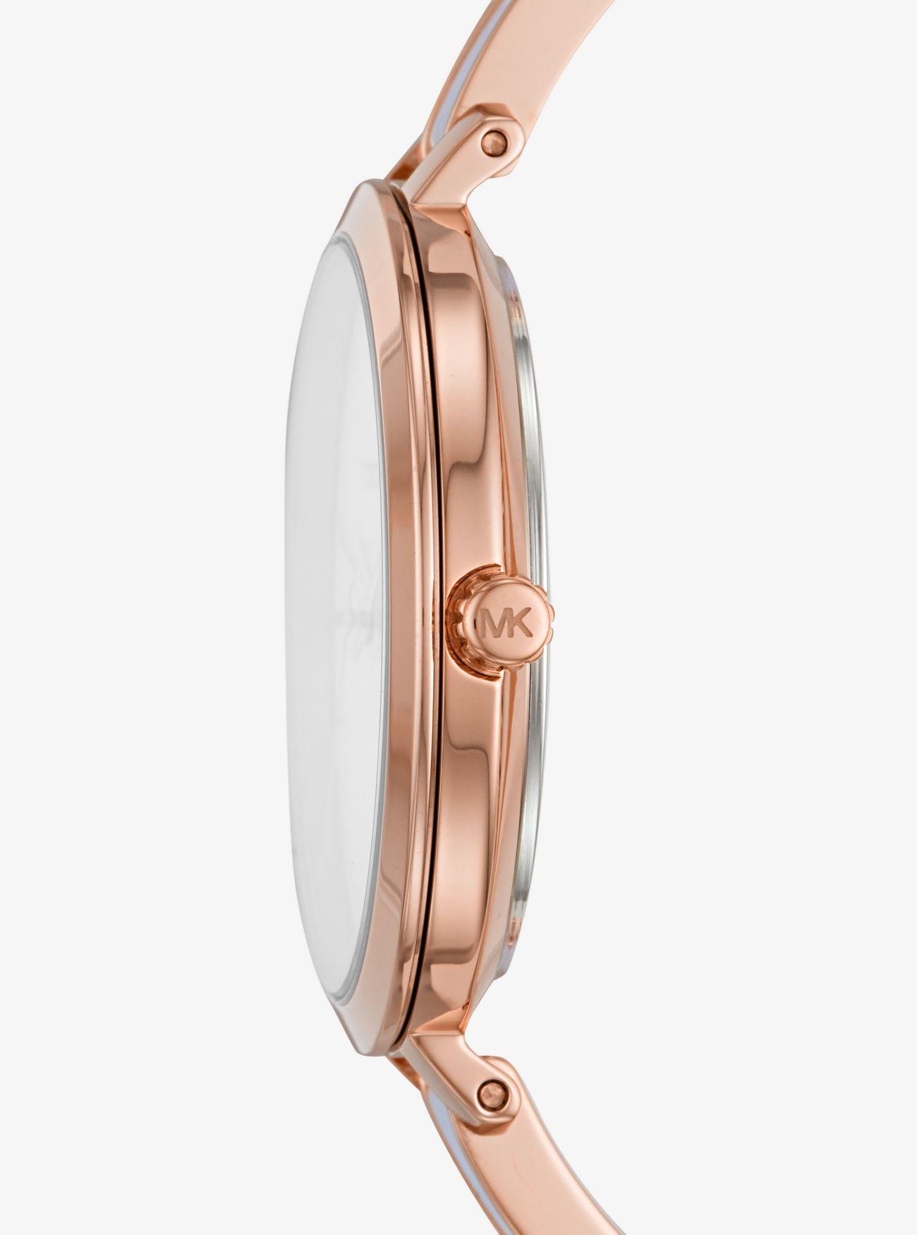 faa6ed3cbe2d3 Michael Kors - Metallic Jaryn Rose Gold-tone And Acetate Watch - Lyst. View  fullscreen