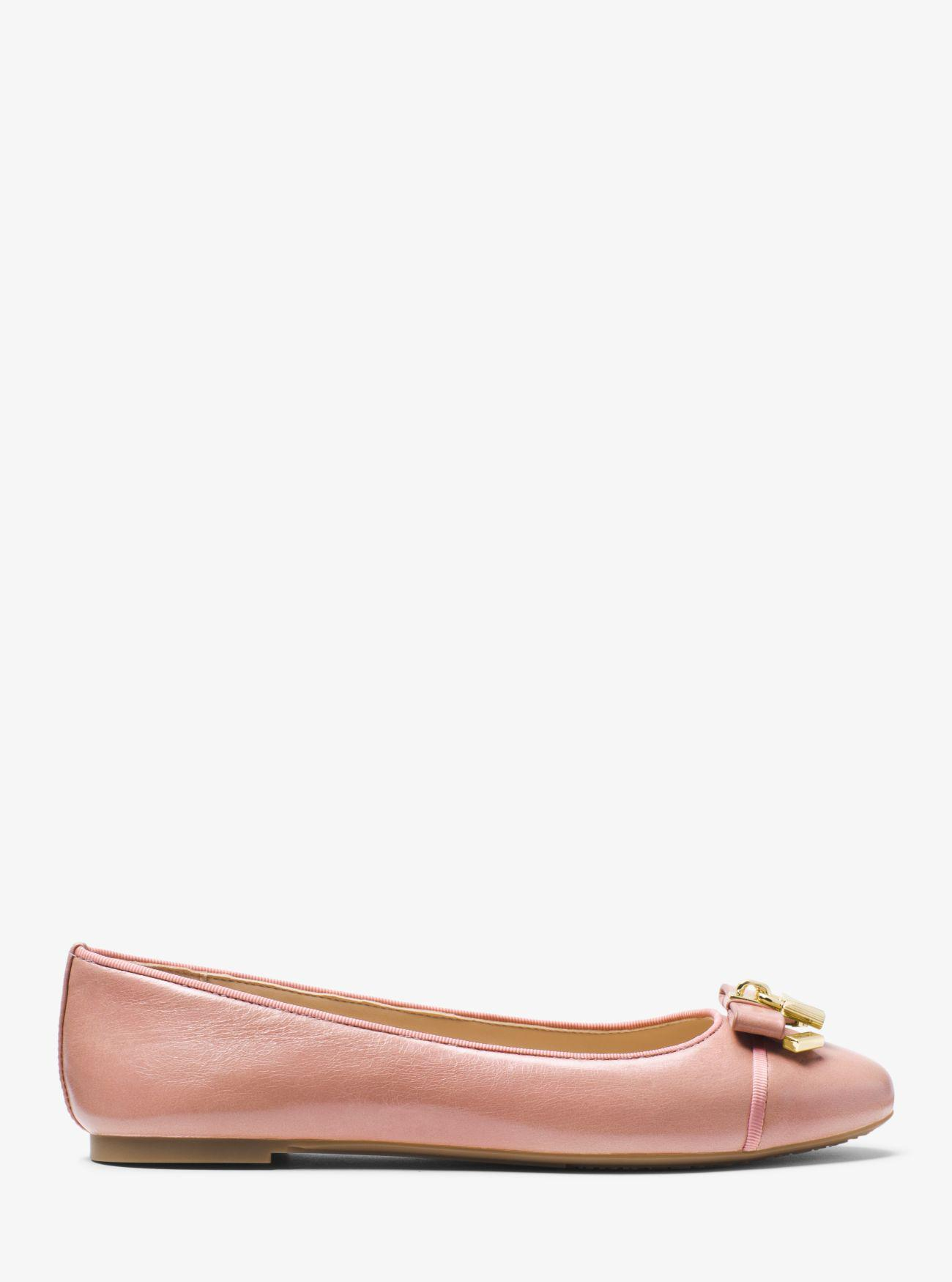 5f920c67339f Lyst - Michael Kors Alice Leather Ballet Flat in Pink