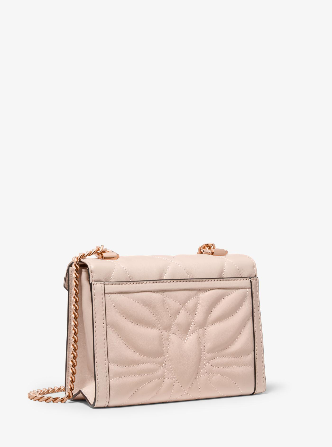 5743c77221aca Lyst - Michael Kors Whitney Small Petal Quilted Leather Convertible ...