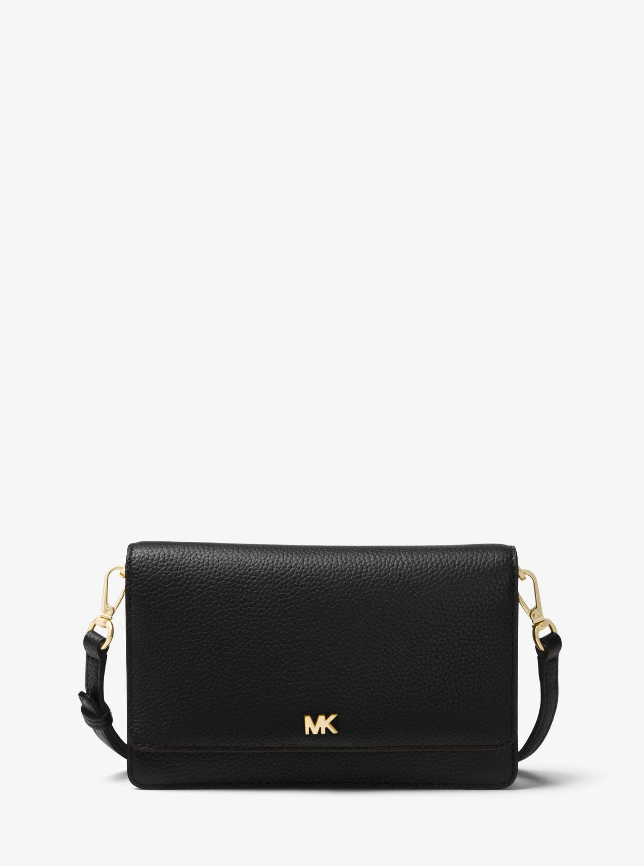b17b6721611f Michael Kors. Women s Black Pebbled Leather Convertible Crossbody Bag