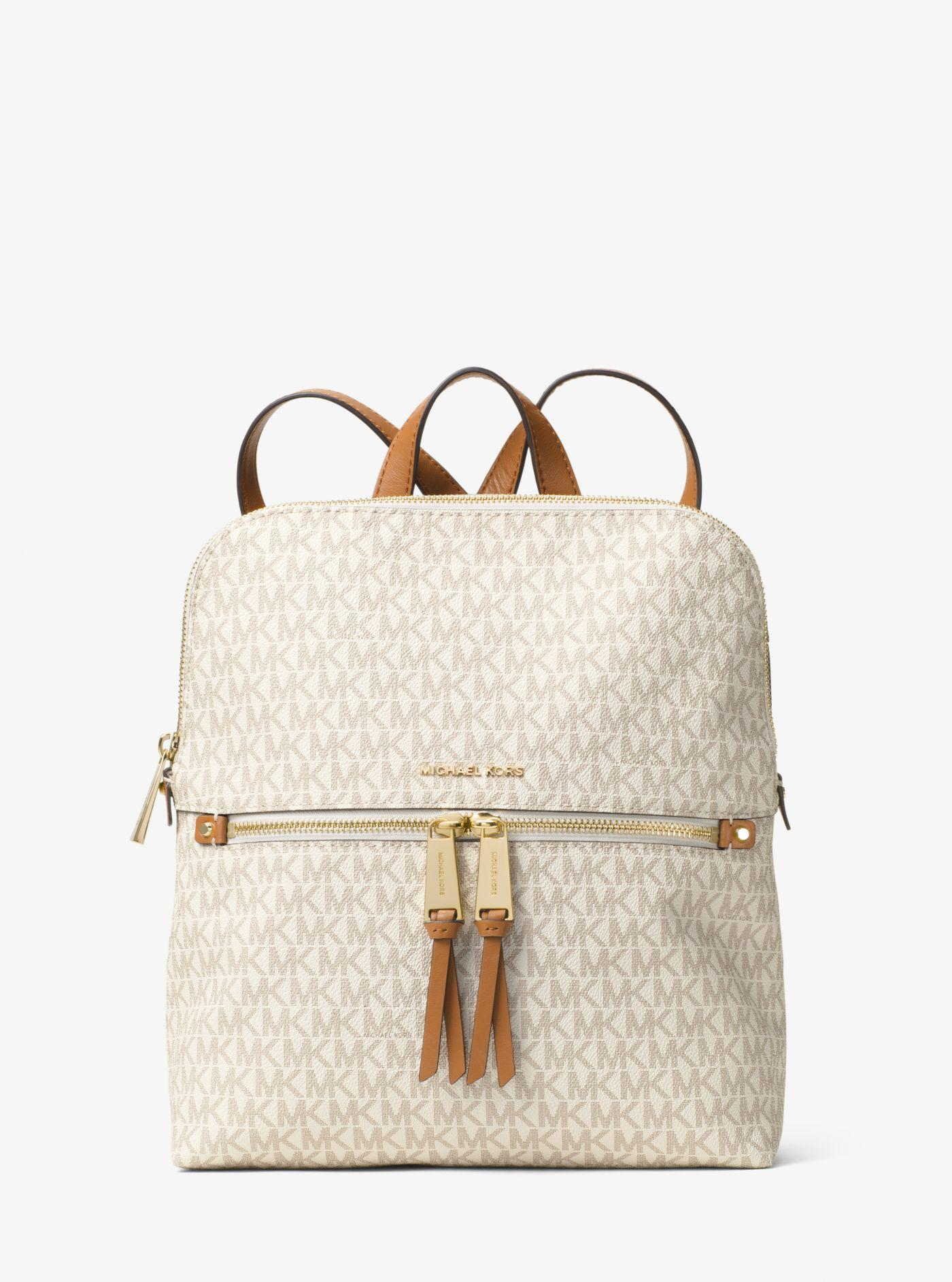 Michael Kors. Women s Rhea Medium Slim Logo Backpack 04e13ea81f