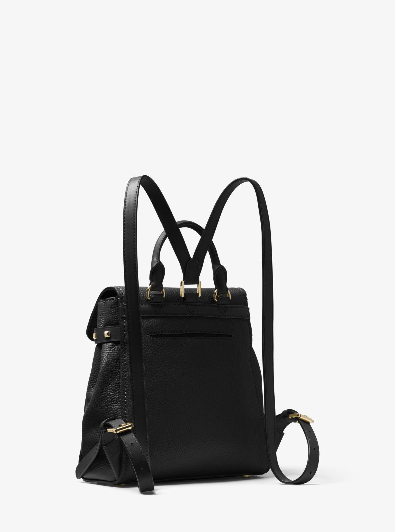 Michael Kors Addison Small Pebbled Leather Backpack in Black