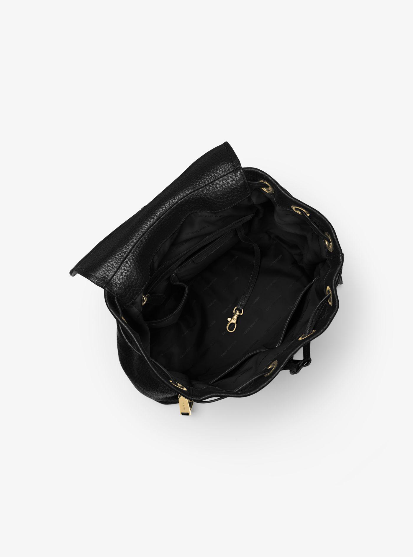 2faec8d40d60 ... discount michael kors black viv large leather backpack lyst. view  fullscreen 87808 06828