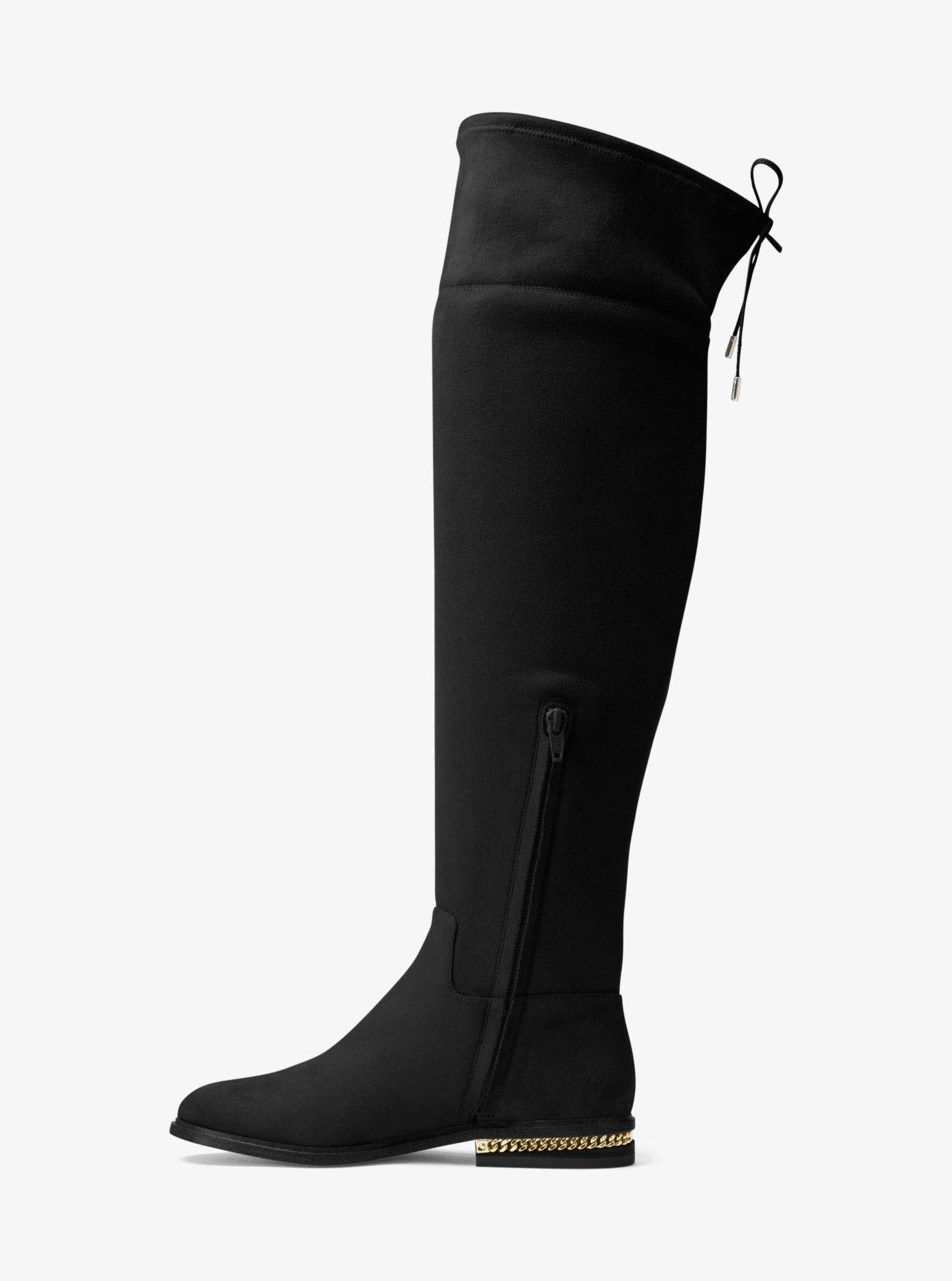 Michael Kors Jamie Suede Boot in Black