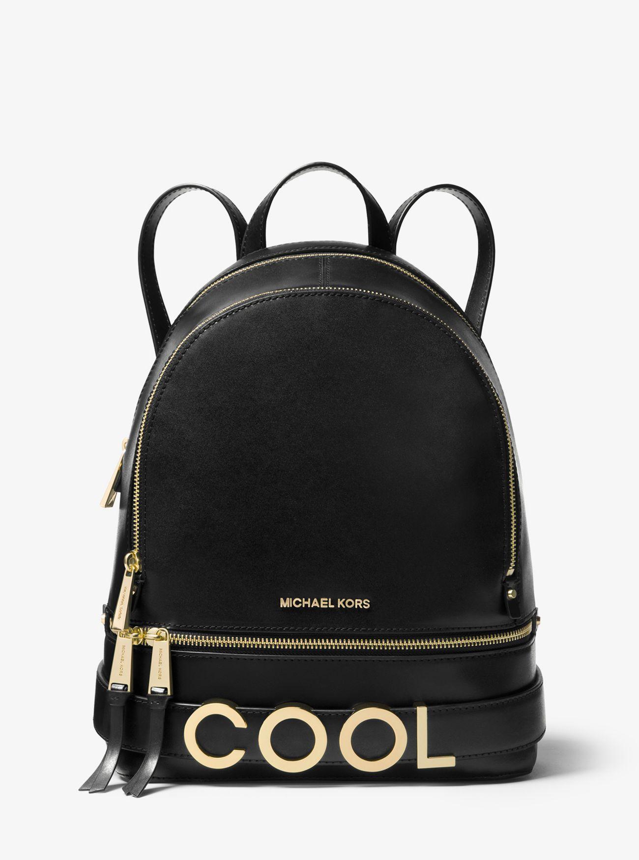 58649559803c MICHAEL Michael Kors. Women s Black Rhea Medium Embellished Leather Backpack