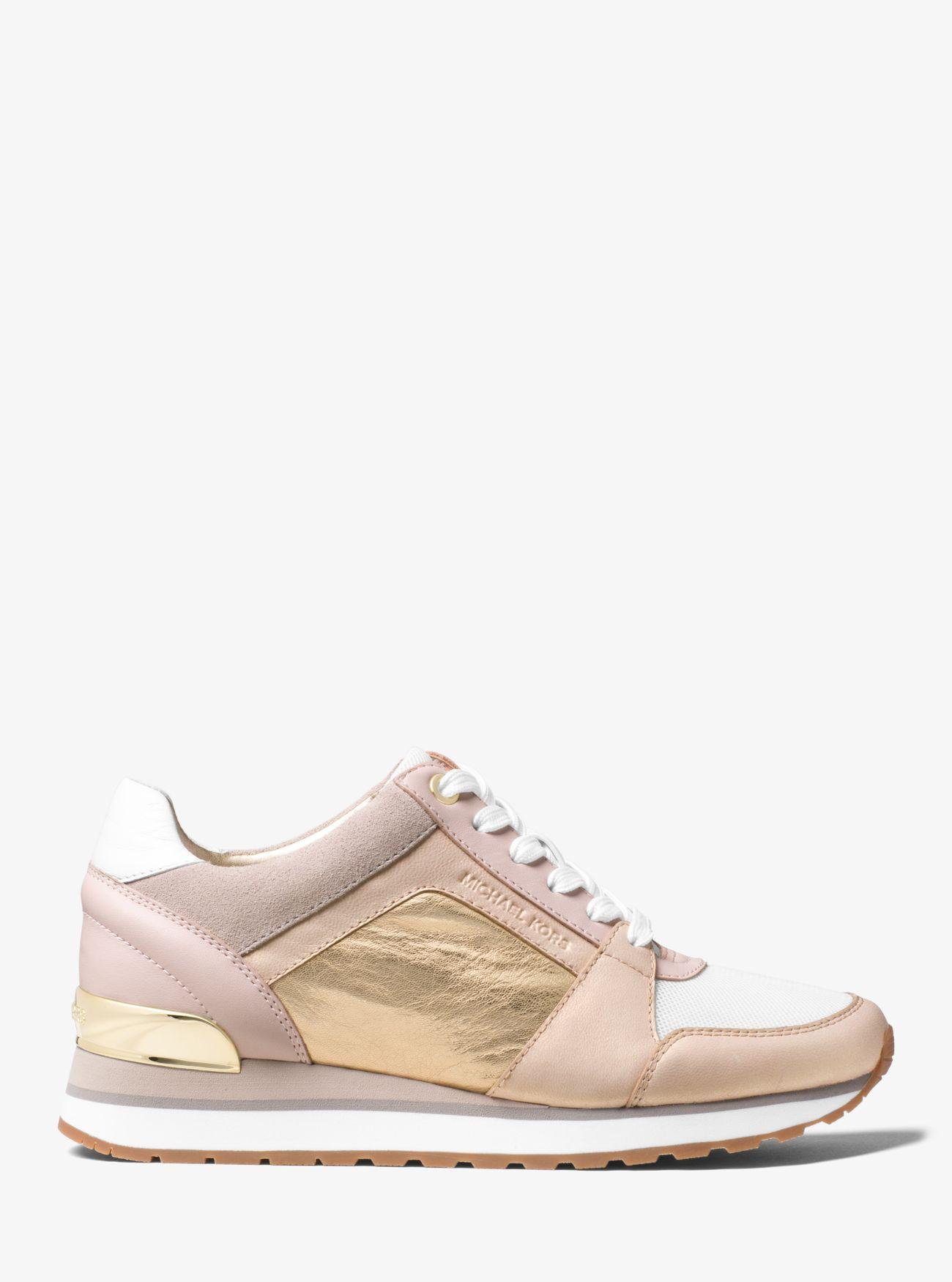 Michael Kors Billie Leather Sneaker in Pink