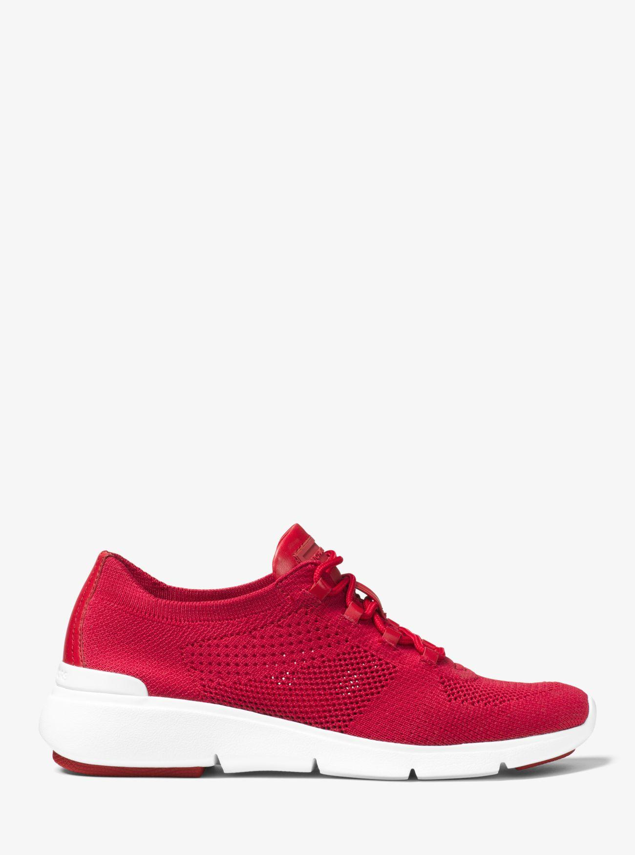 Michael Kors Rubber Skyler Knit Trainer in Bright Red (Red)