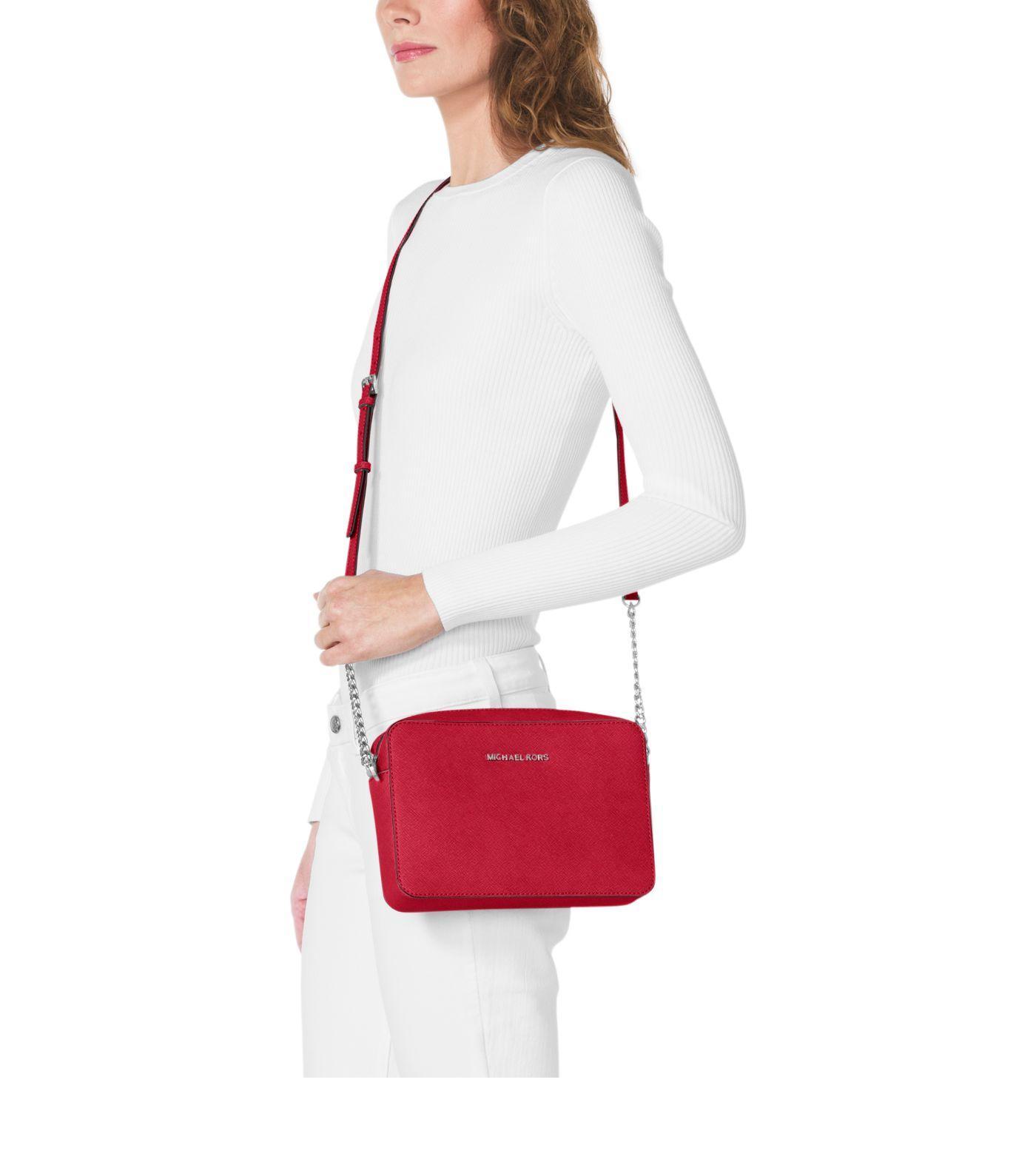 Jet Set Large Saffiano Leather Crossbody Bag