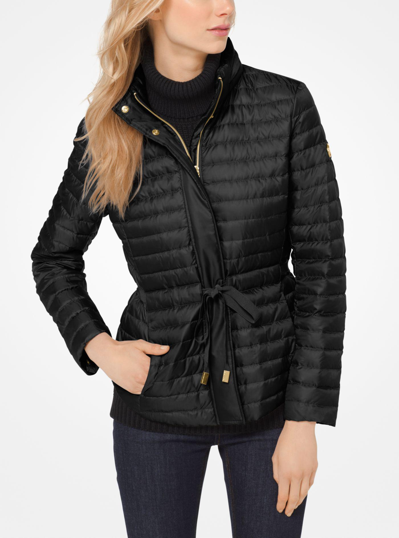 71c2aa02fc7b Michael Kors Packable Nylon Puffer Jacket in Black - Lyst