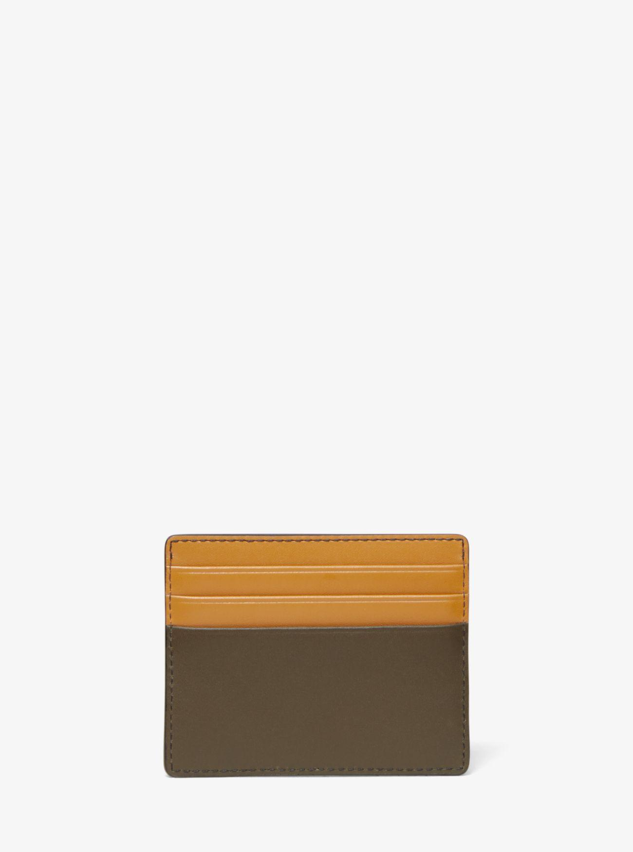 eeac96d8ef3c Michael Kors - Multicolor Odin Tall Leather Card Case for Men - Lyst. View  fullscreen