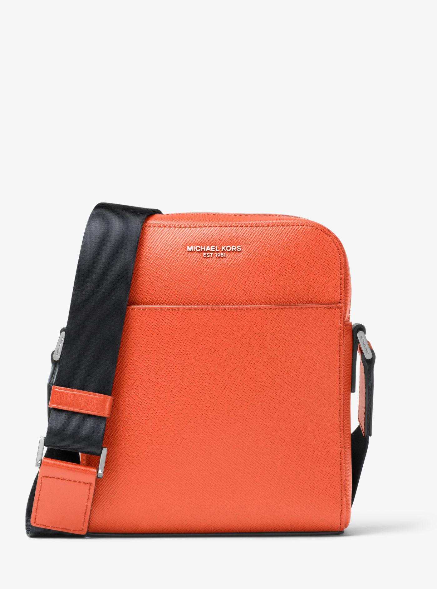 6b4787374e51 Michael Kors Harrison Leather Flight Bag for Men - Lyst