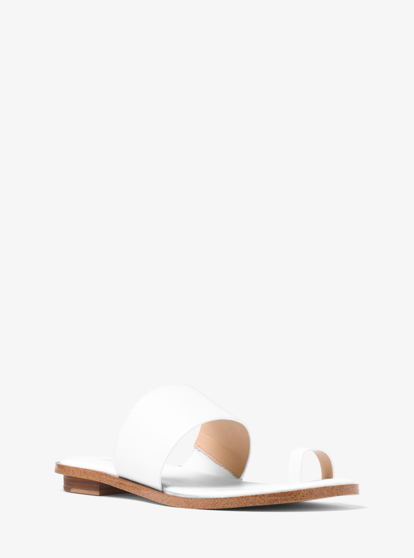 42031f908db Michael Kors Sonya Leather Sandal in White - Lyst