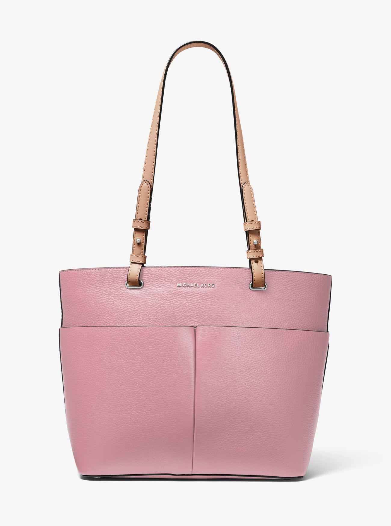 10bc9f5dce0c Lyst - MICHAEL Michael Kors Bedford Pebbled Leather Tote Bag in Purple