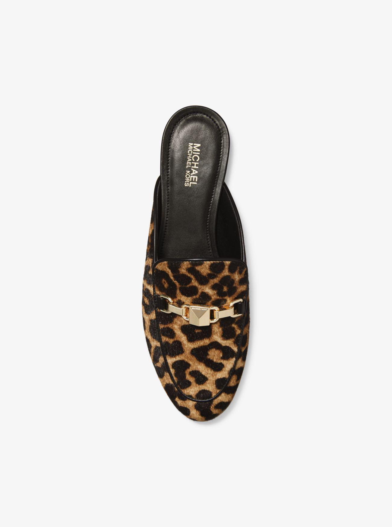 Charlton Leopard Calf Hair Mule