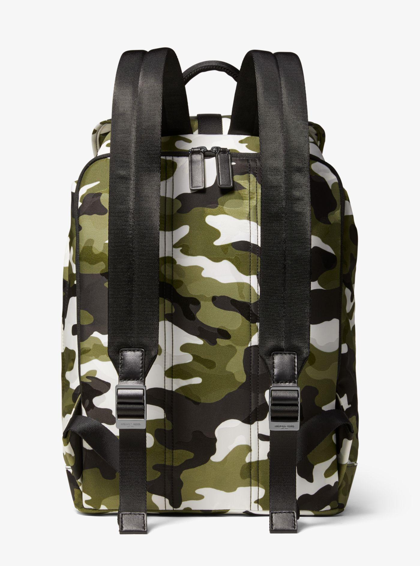 Sac à dos Kent en nylon à jacquard camouflage