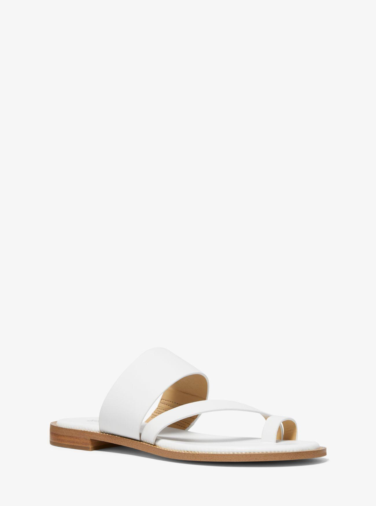 e9e67011c64b Lyst - MICHAEL Michael Kors Pratt Leather Sandal in White
