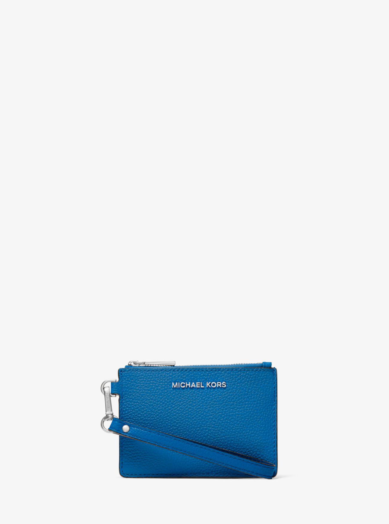 10b9b2172017 MICHAEL Michael Kors - Blue Tri-color Pebbled Leather Coin Purse - Lyst.  View fullscreen