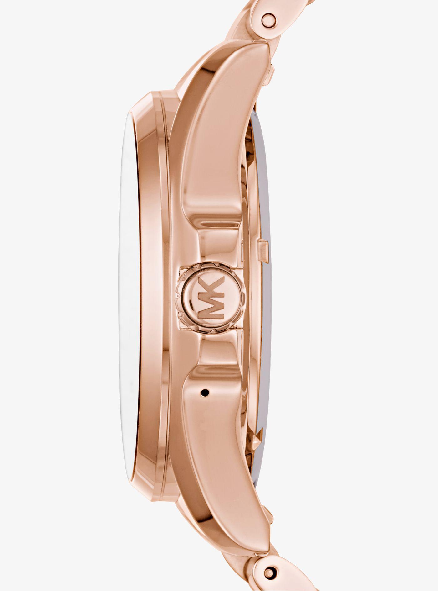 51559079217 Lyst - Michael Kors Bradshaw Rose Gold-tone Smartwatch